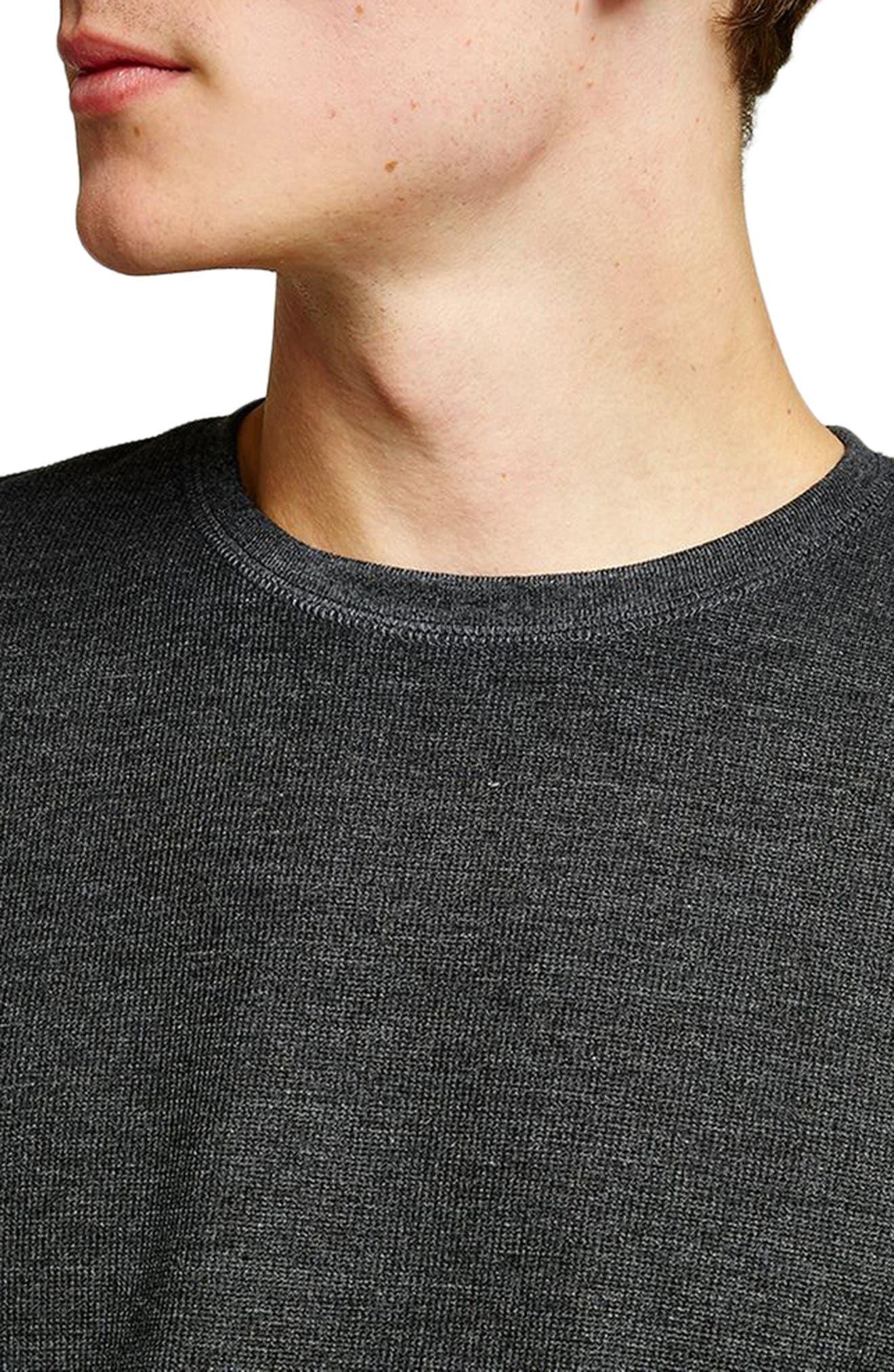 Slim Fit Waffle Knit Long Sleeve T-Shirt,                             Alternate thumbnail 3, color,