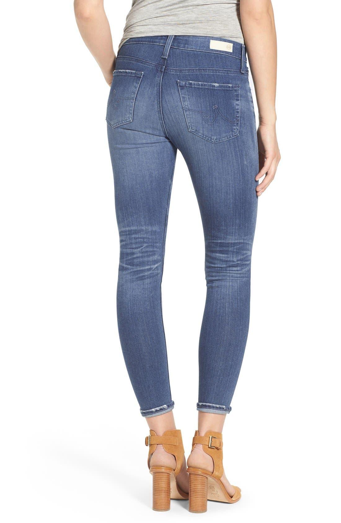 AG,                             'The Farrah' High Rise Crop Skinny Jeans,                             Alternate thumbnail 4, color,                             400