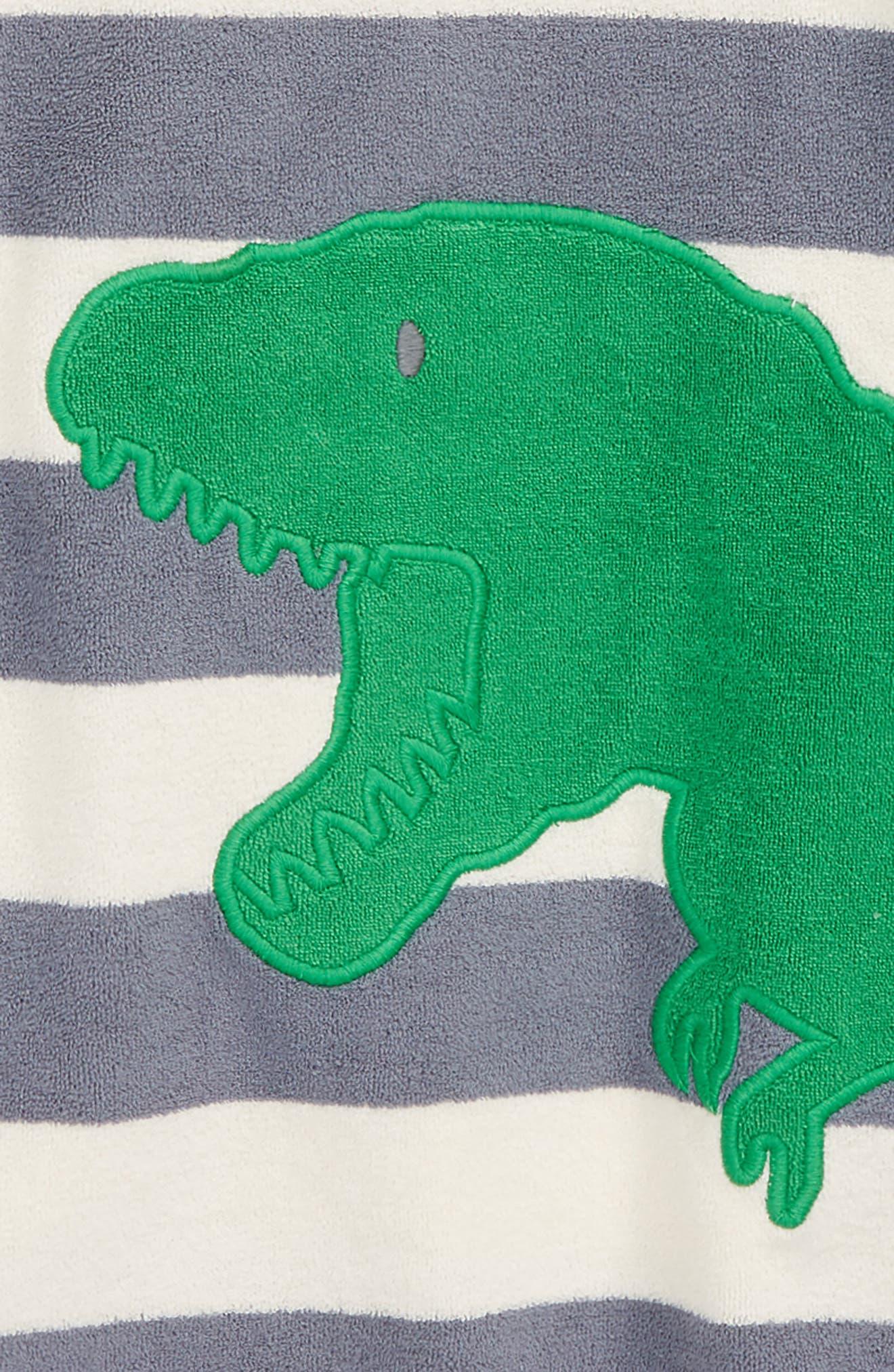 Dino Toweling Hoodie,                             Alternate thumbnail 2, color,