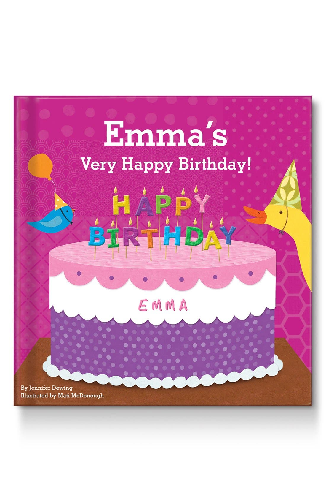 'My Very Happy Birthday' Personalized Book,                             Main thumbnail 1, color,                             PINK