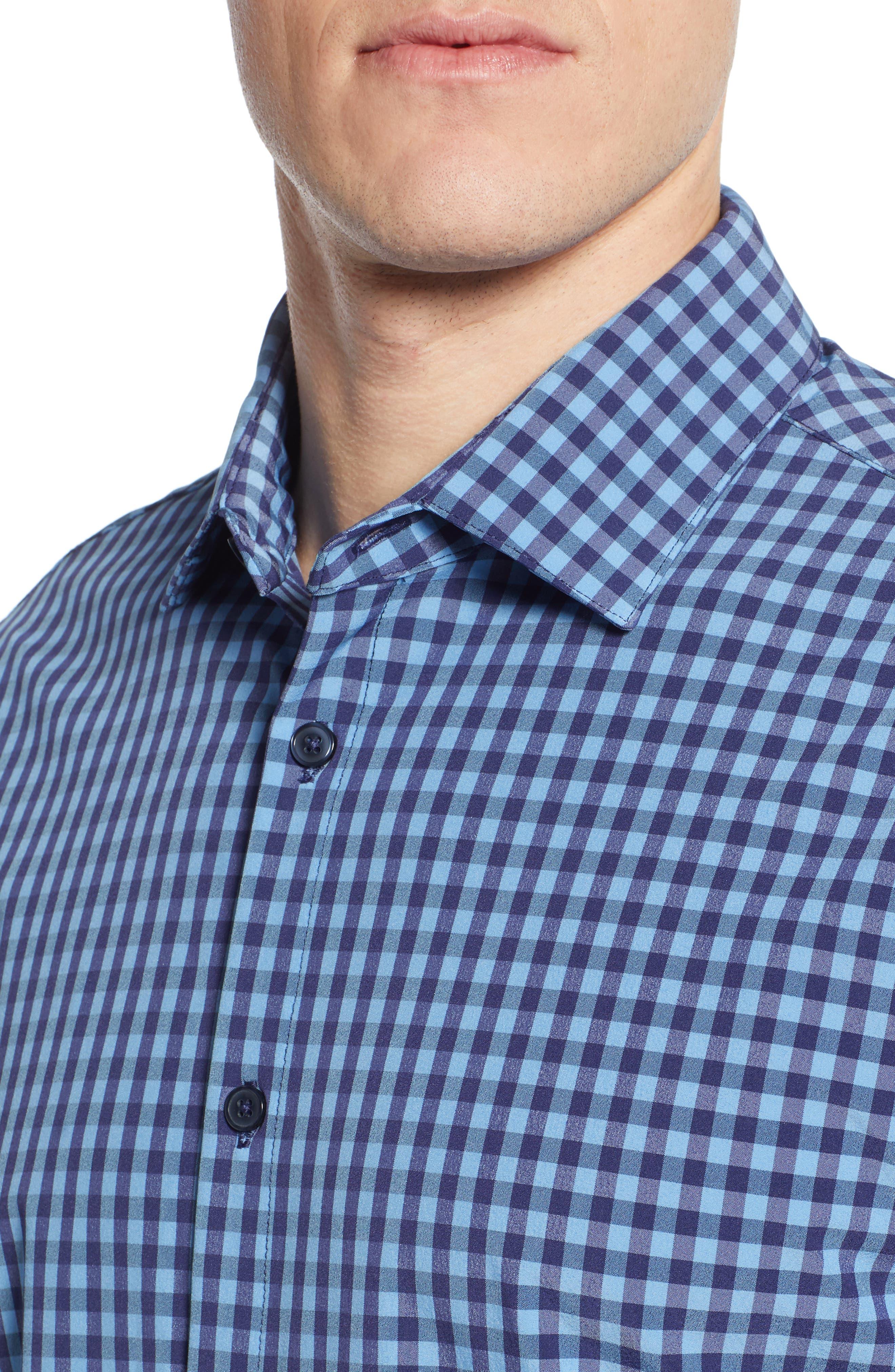 Whitten Regular Fit Check Performance Sport Shirt,                             Alternate thumbnail 2, color,                             BLUE