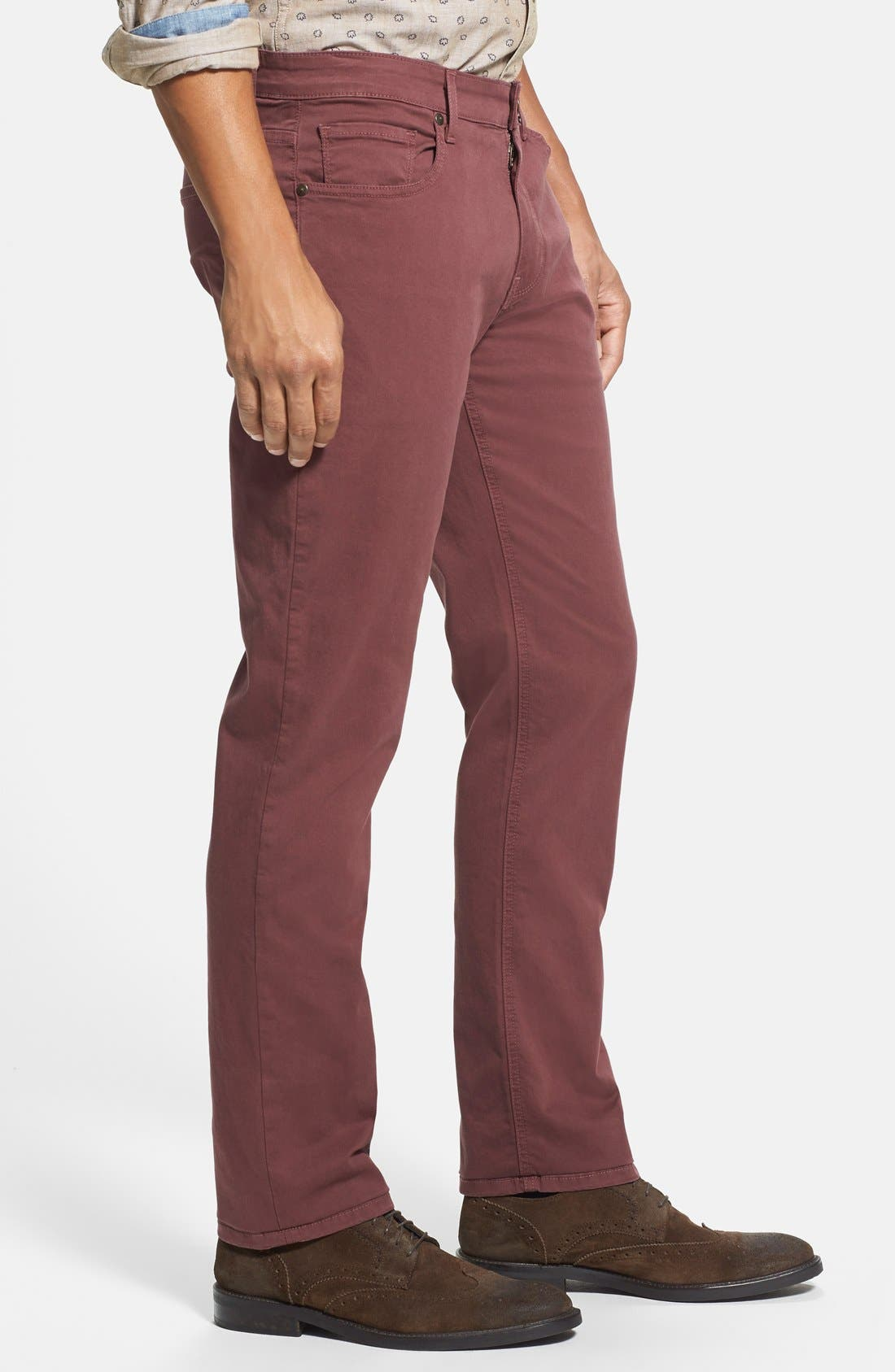 Normandie Slim Straight Leg Twill Pants,                             Alternate thumbnail 16, color,