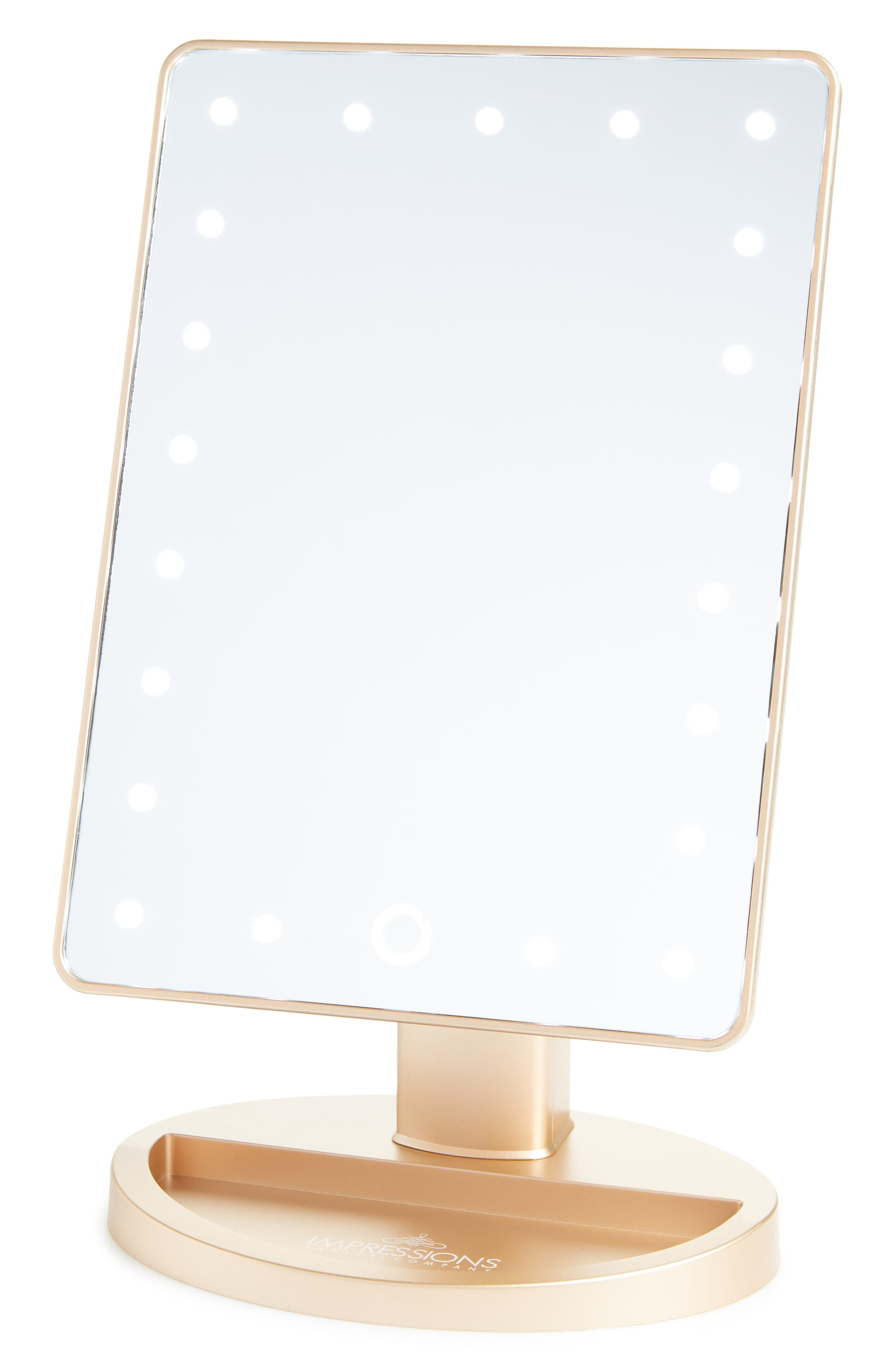 Touch 2.0 Dimmable LED Vanity Mirror,                         Main,                         color, MATTE CHAMPAGNE GOLD