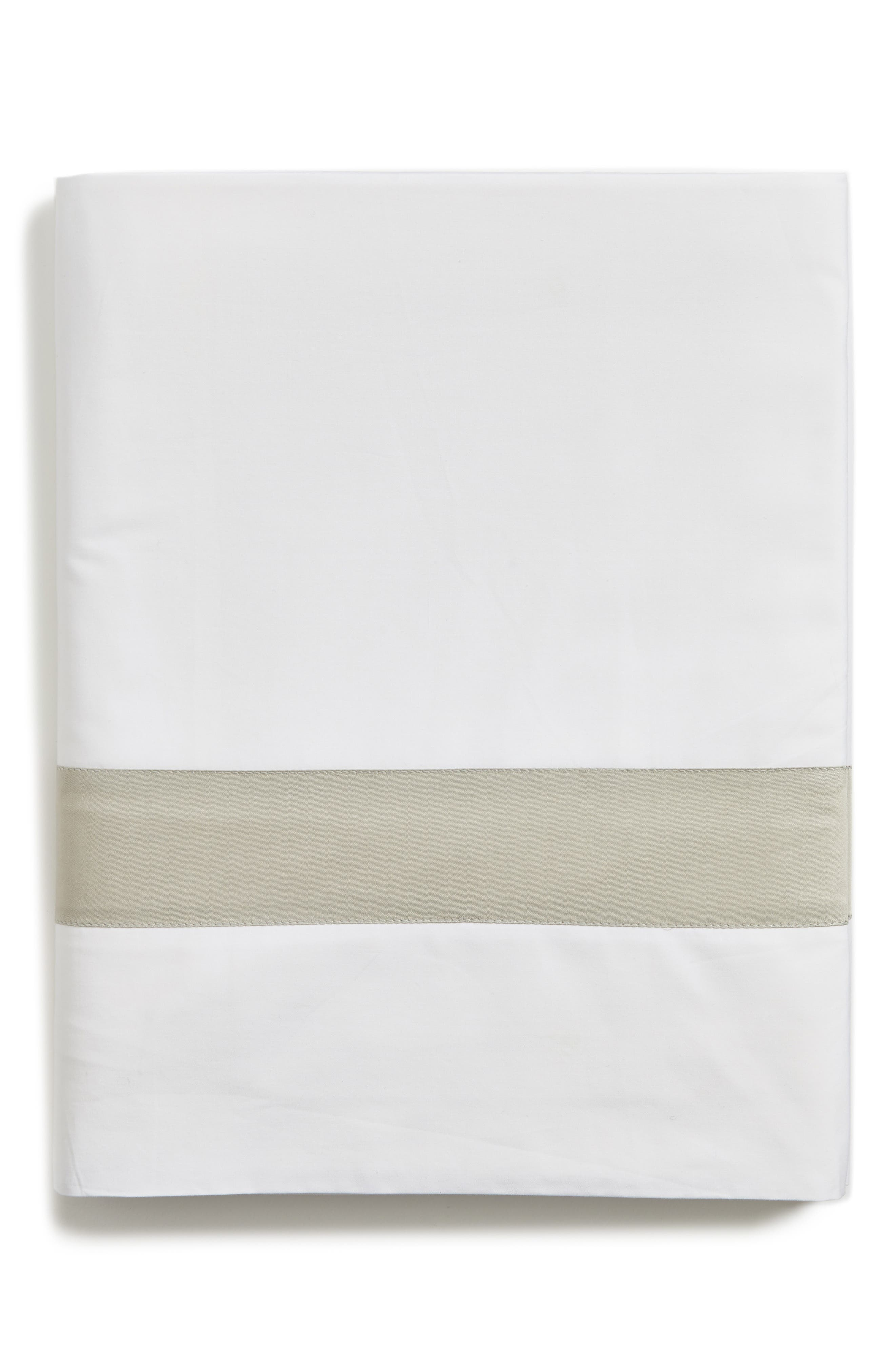 Orlo Flat Sheet,                             Main thumbnail 1, color,                             WHITE/ GREY