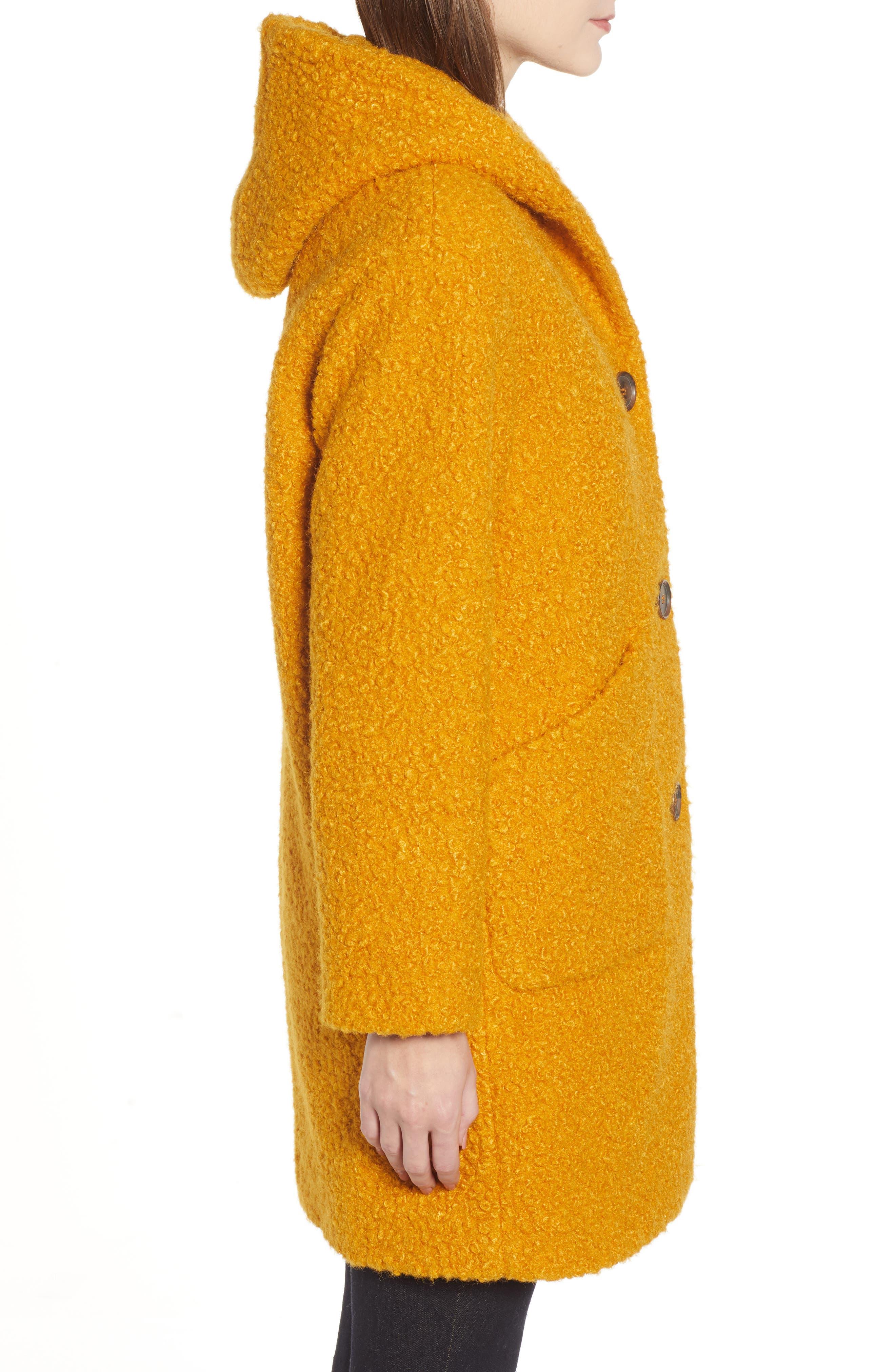 Hooded Coat,                             Alternate thumbnail 3, color,                             YELLOW TREASURE