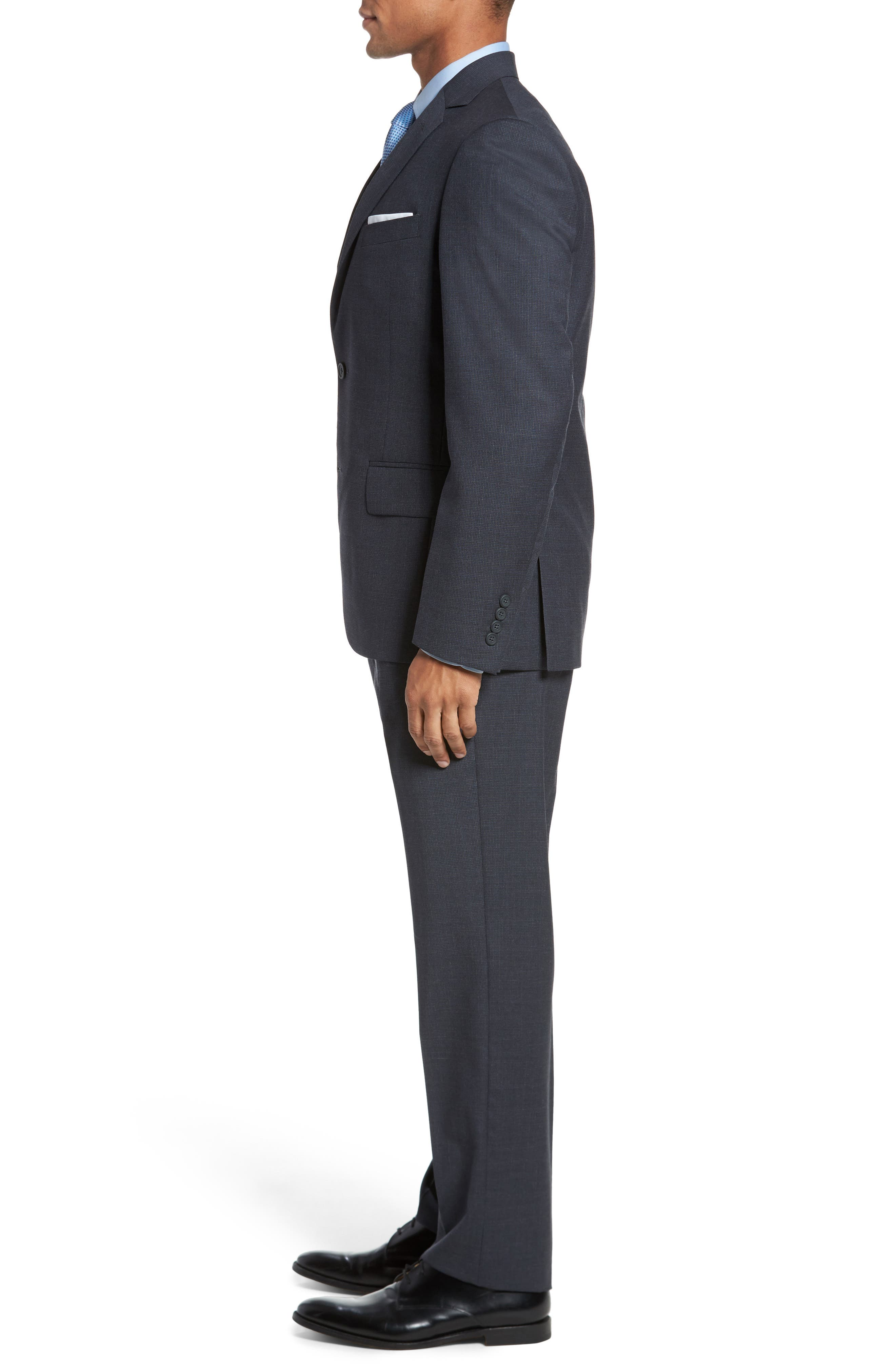 Classic Fit Check Wool Suit,                             Alternate thumbnail 9, color,