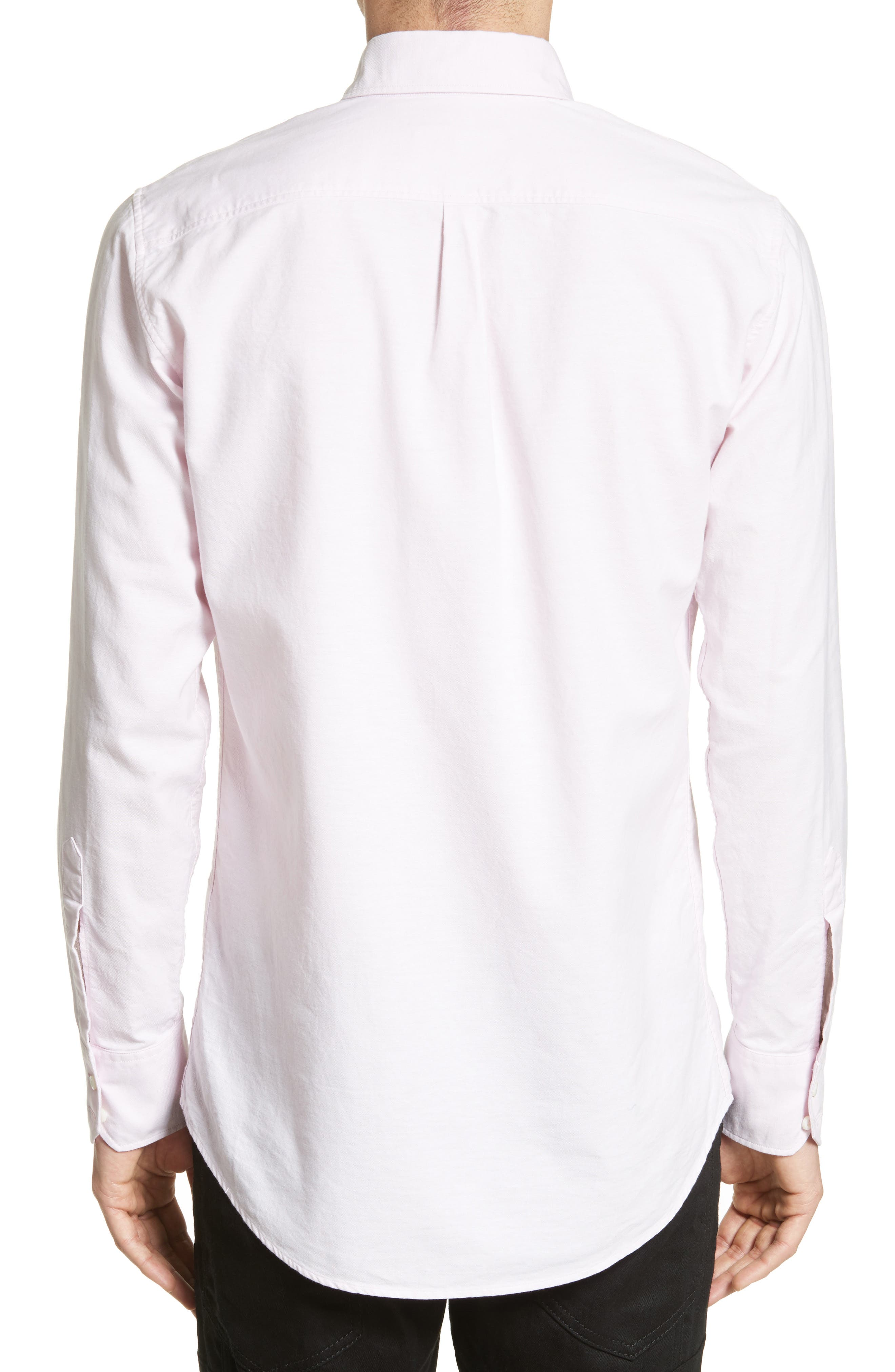 Extra Trim Fit Oxford Sport Shirt,                             Alternate thumbnail 3, color,                             650