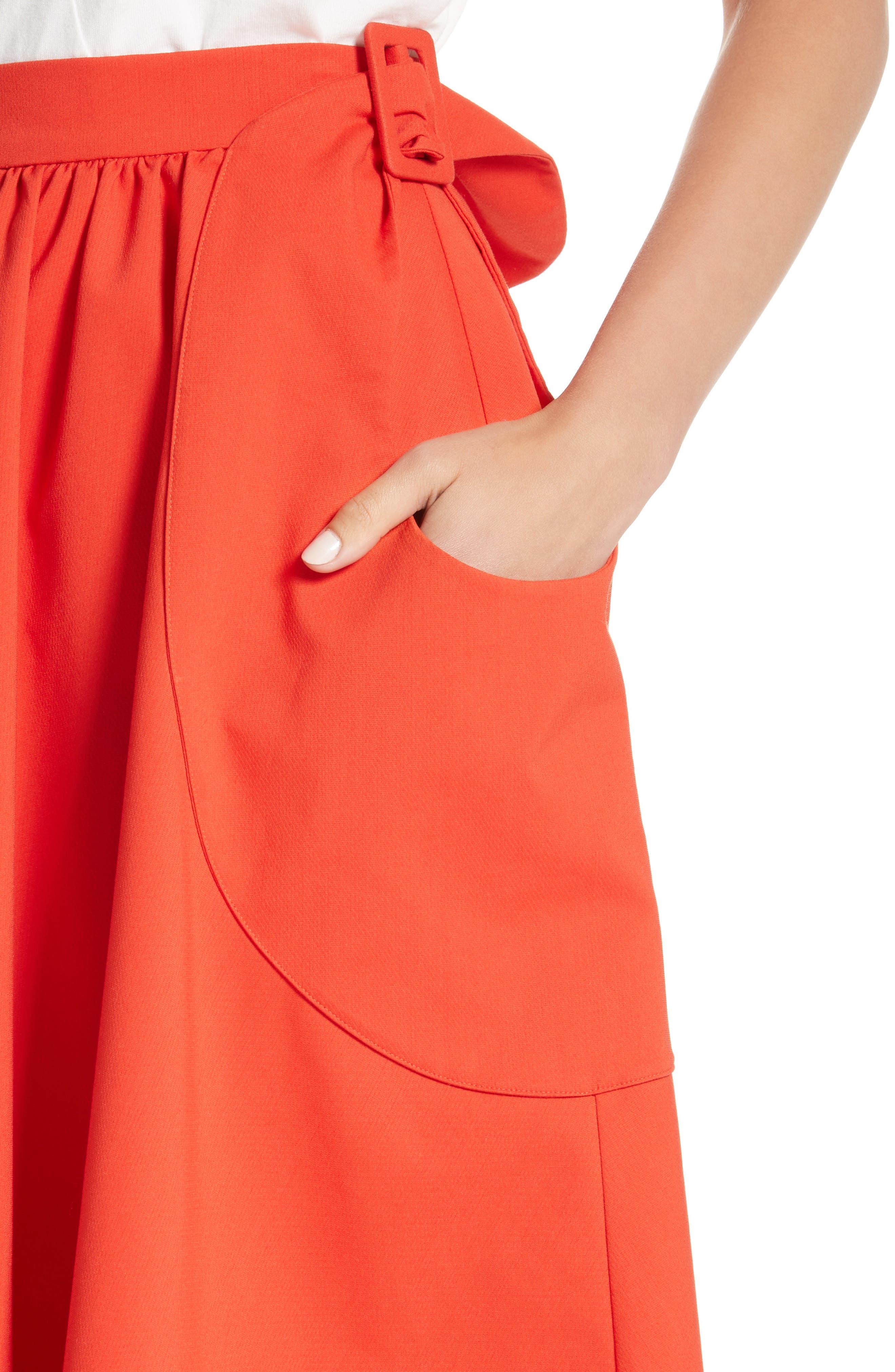 Belted Pocket Skirt,                             Alternate thumbnail 4, color,                             610