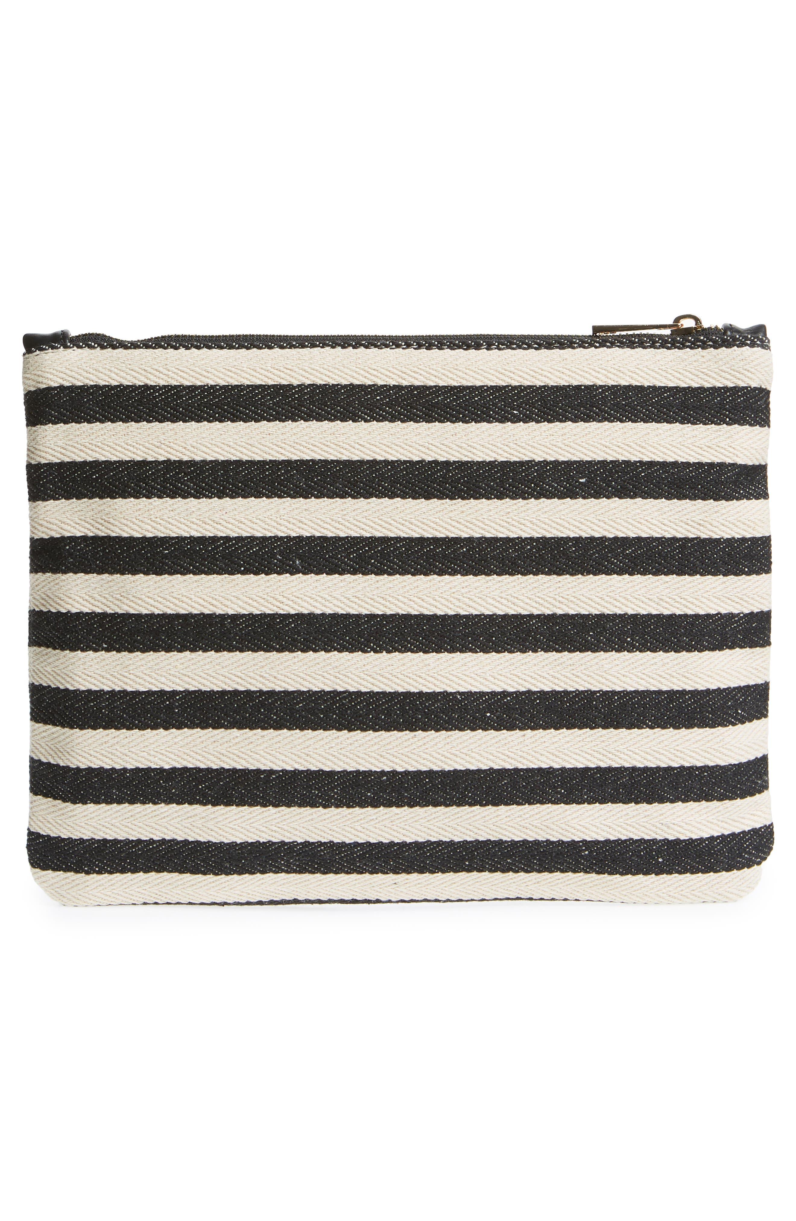 Mini Panel Stripe Pouch,                             Alternate thumbnail 5, color,