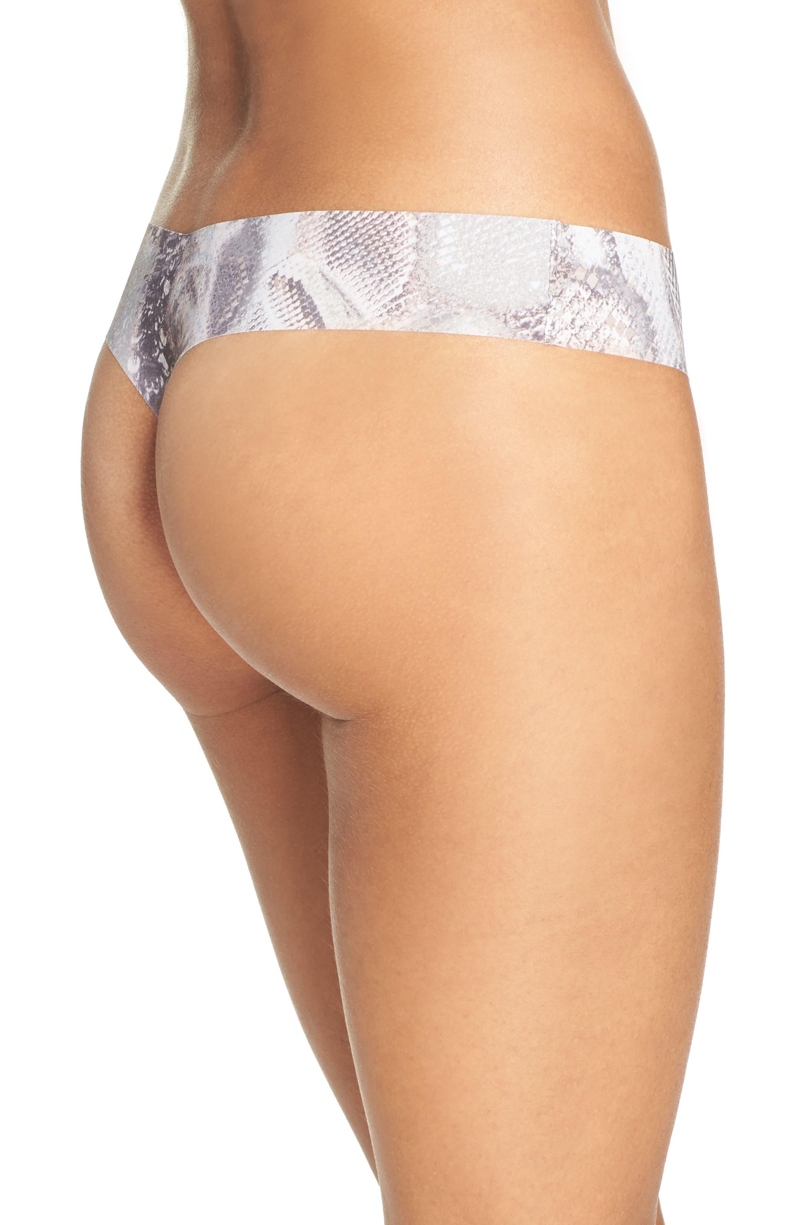 Print Microfiber Thong,                             Alternate thumbnail 206, color,