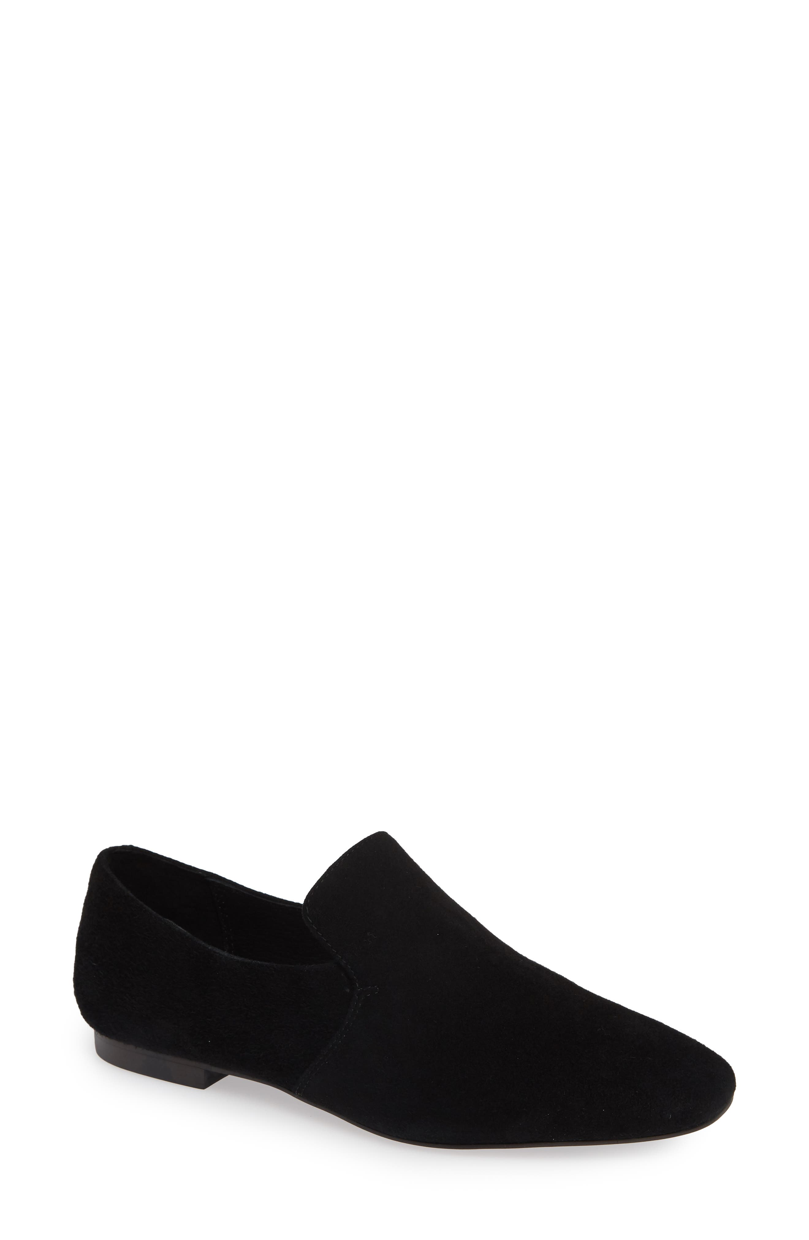 Priestly Loafer,                             Main thumbnail 1, color,                             BLACK SUEDE