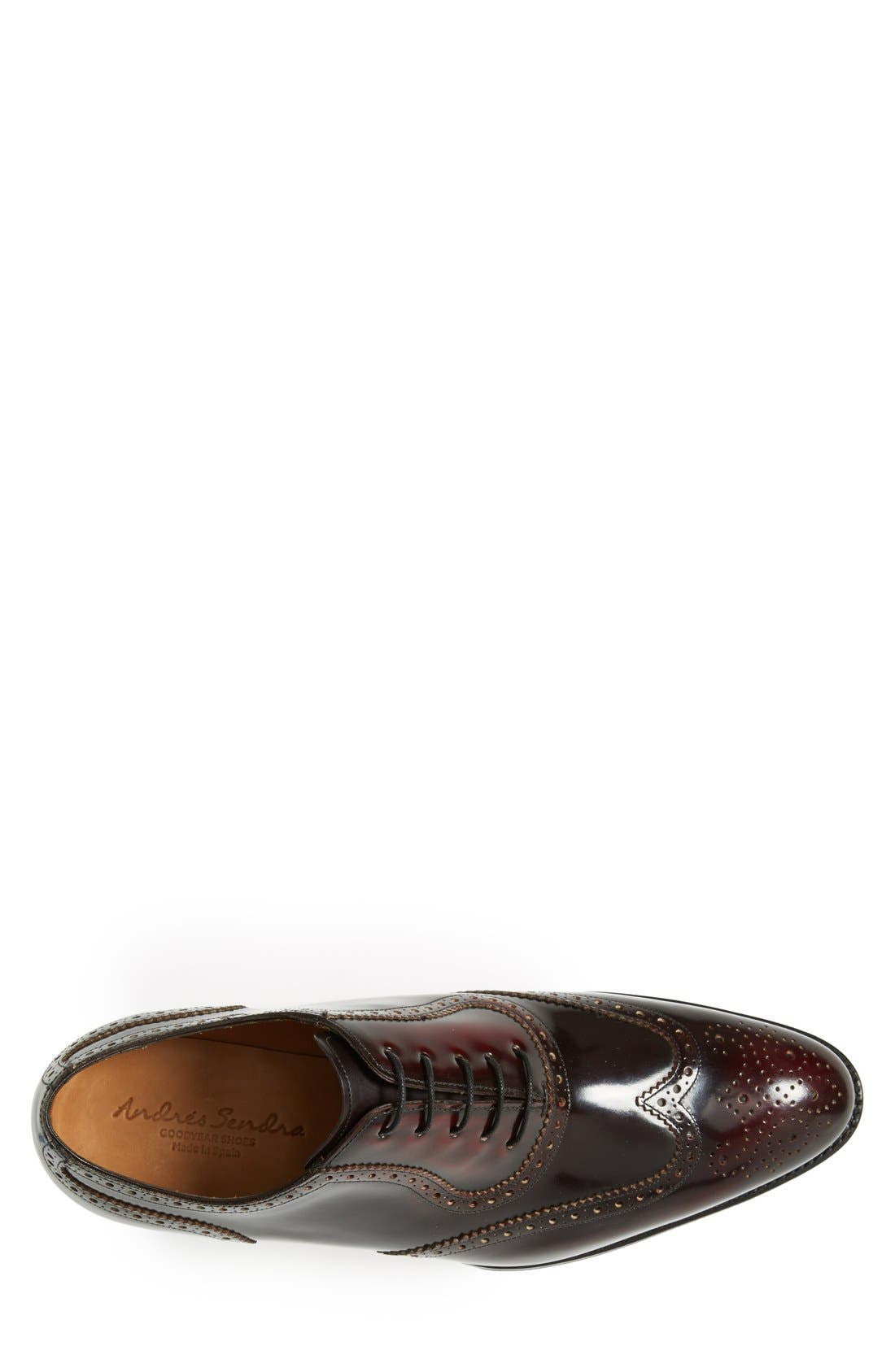 'Wexford' Wingtip,                             Alternate thumbnail 3, color,                             BORDEAUX