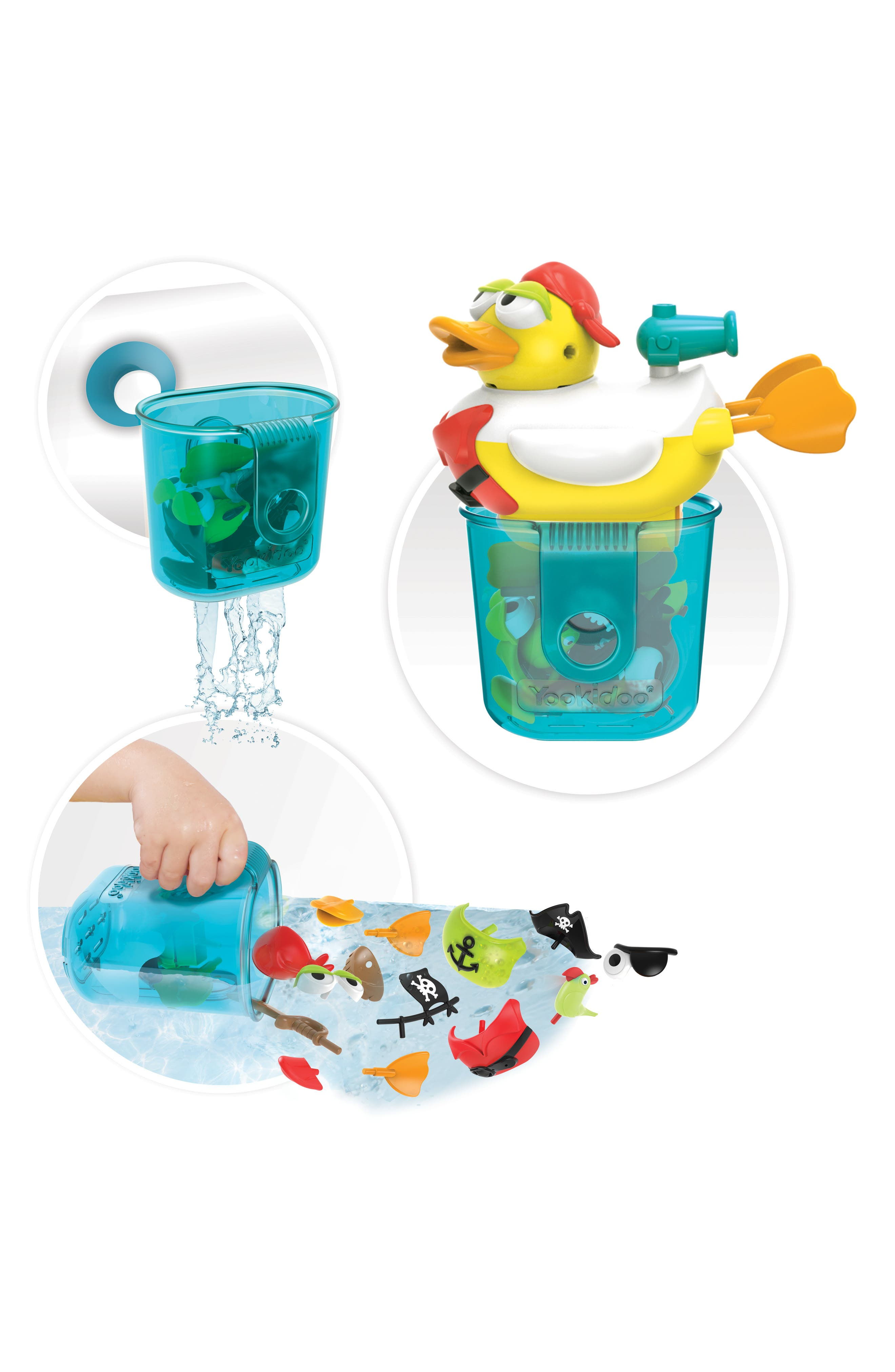 Jet Duck<sup>™</sup> Create a Pirate Bath Toy Kit,                             Alternate thumbnail 5, color,                             YELLOW