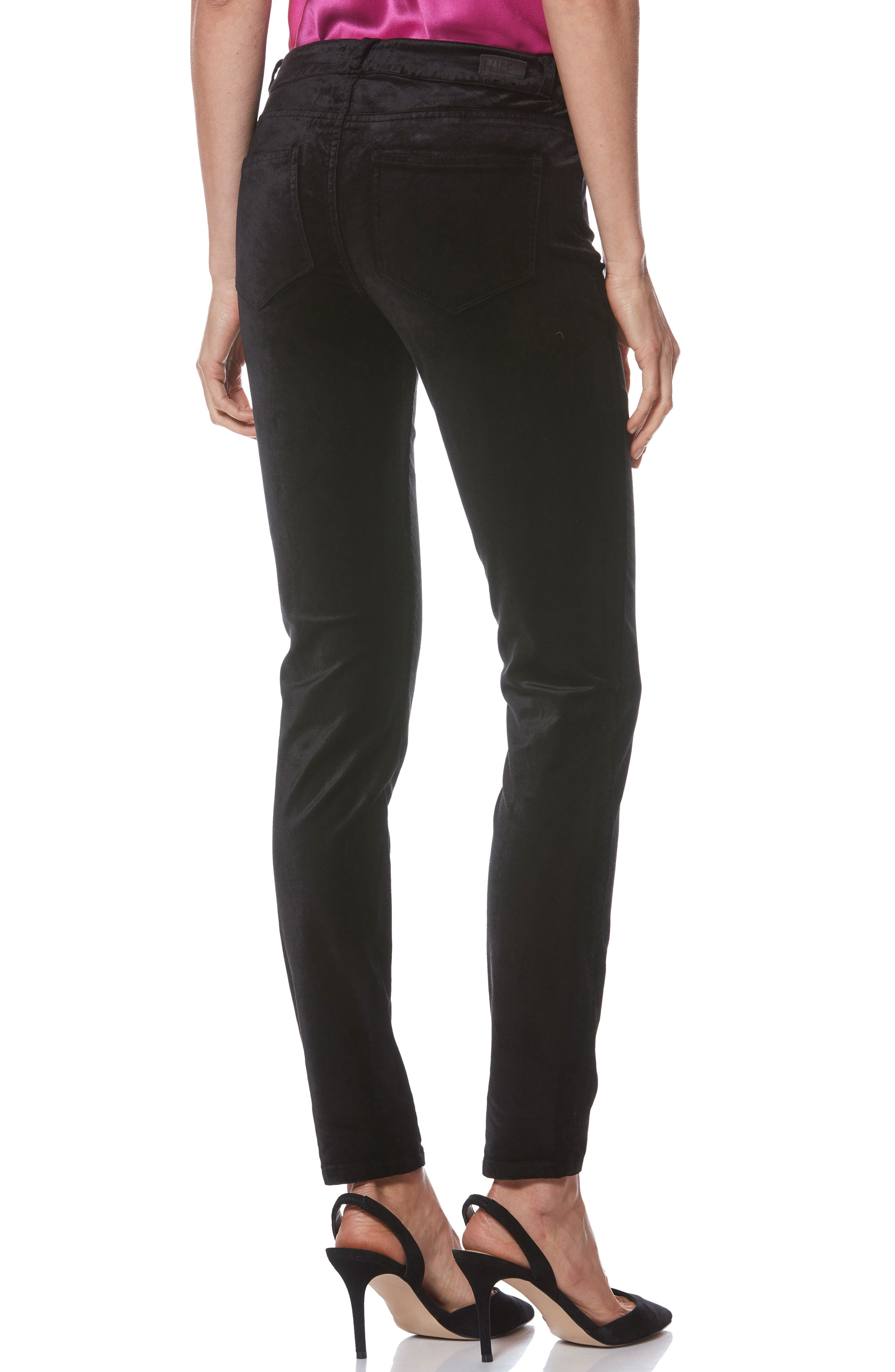 Verdugo Ultra Skinny Velvet Pants,                             Alternate thumbnail 2, color,                             001