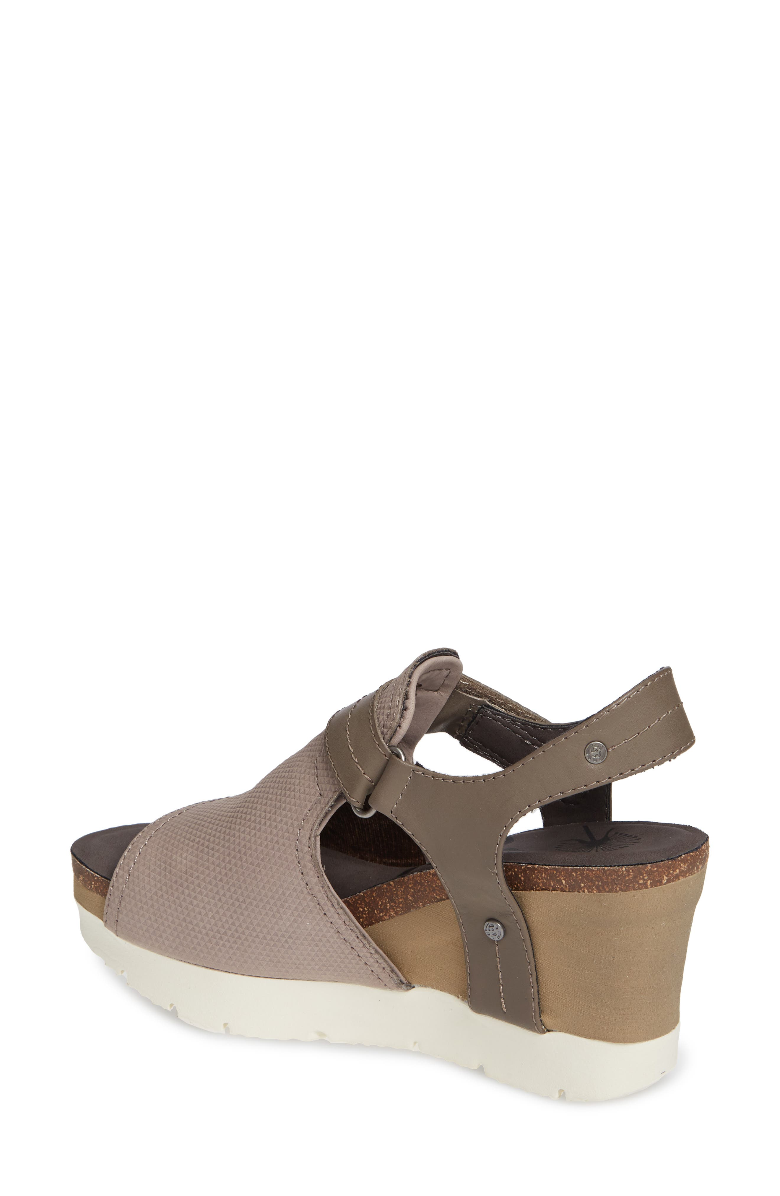 Waypoint Wedge Sandal,                             Alternate thumbnail 2, color,                             CACAO LEATHER