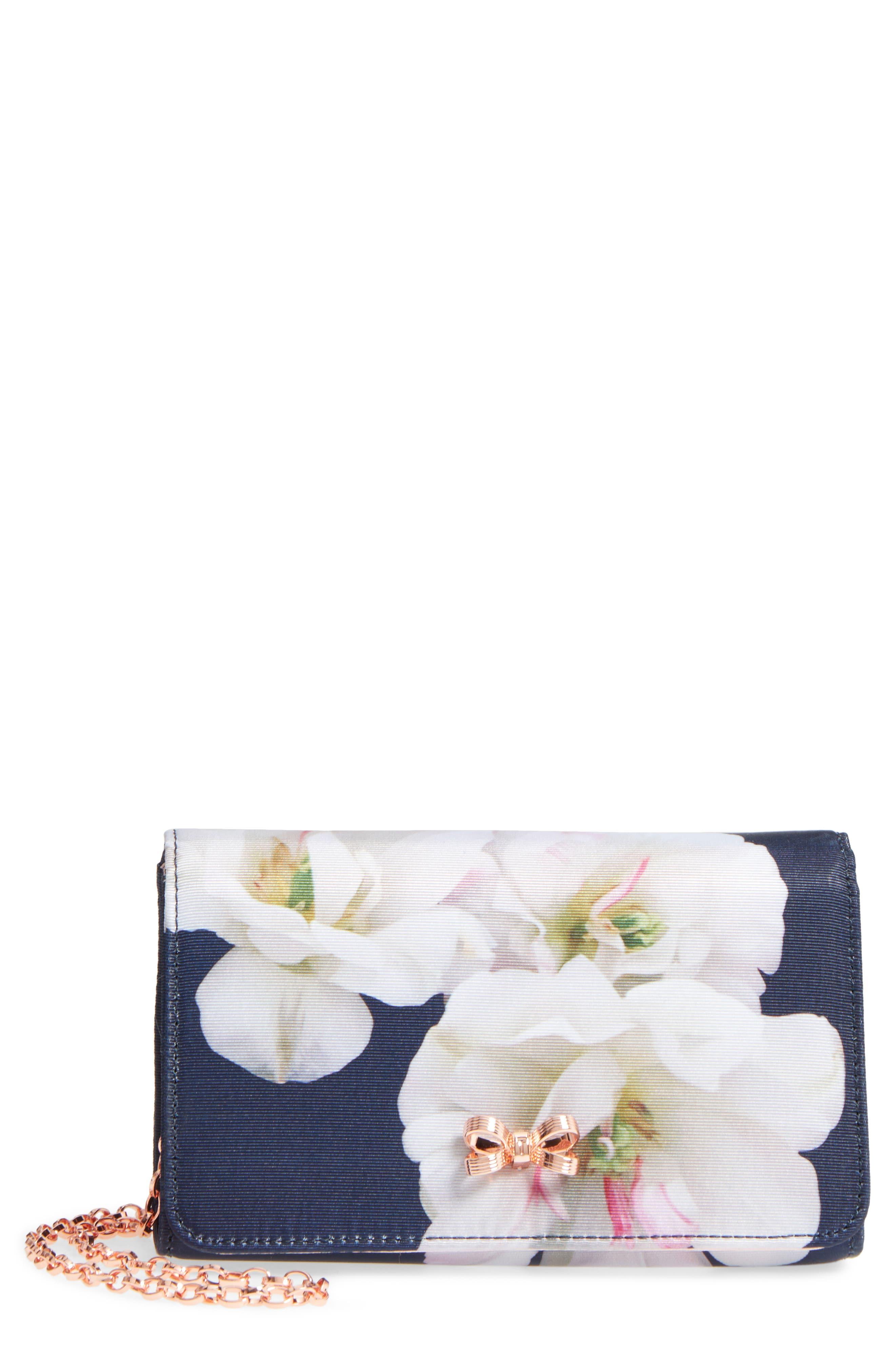 Dafodil Gardenia Grosgrain Clutch,                             Main thumbnail 1, color,                             402