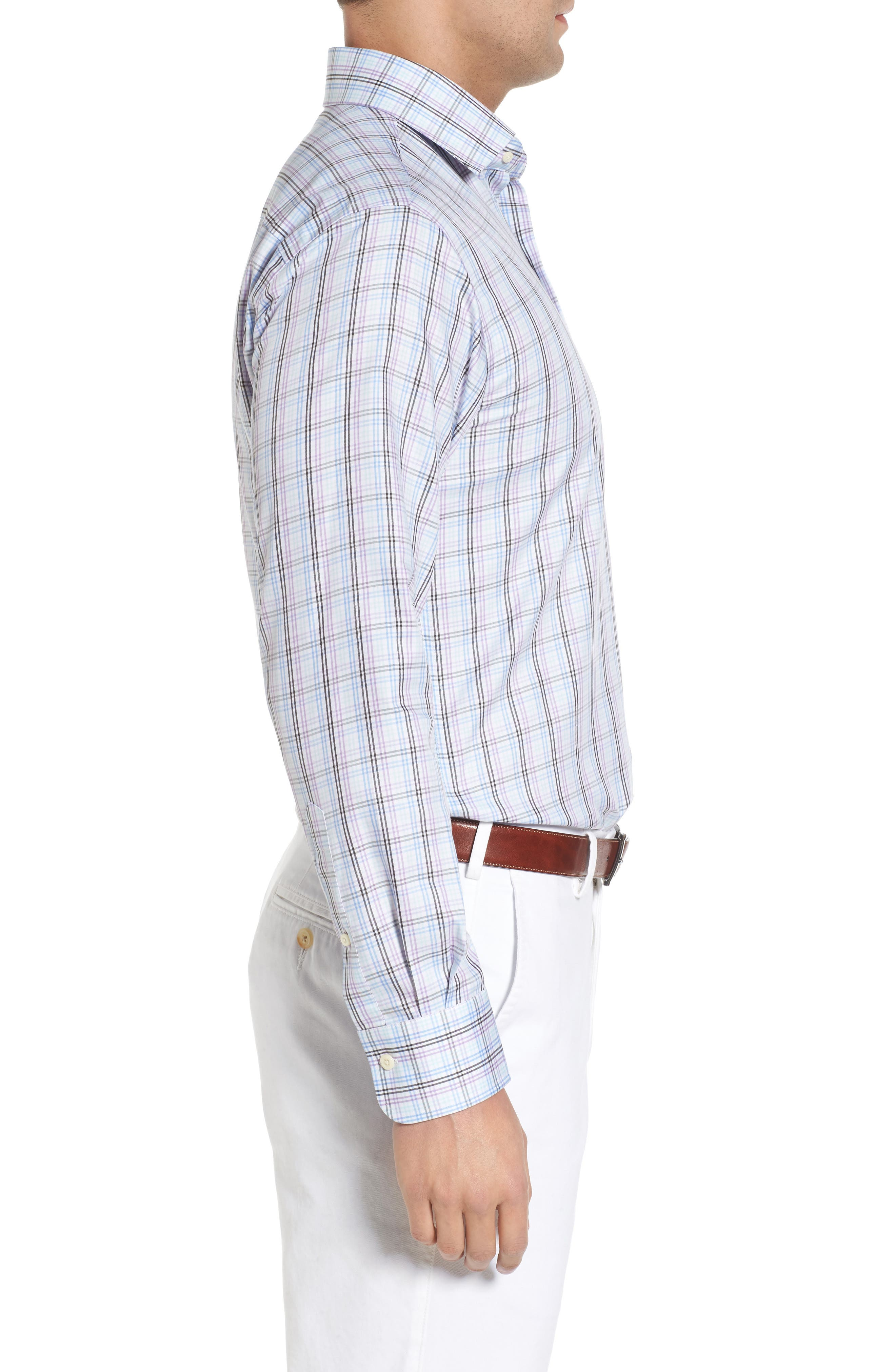 Crown Soft Daybreak Regular Fit Check Sport Shirt,                             Alternate thumbnail 3, color,                             422