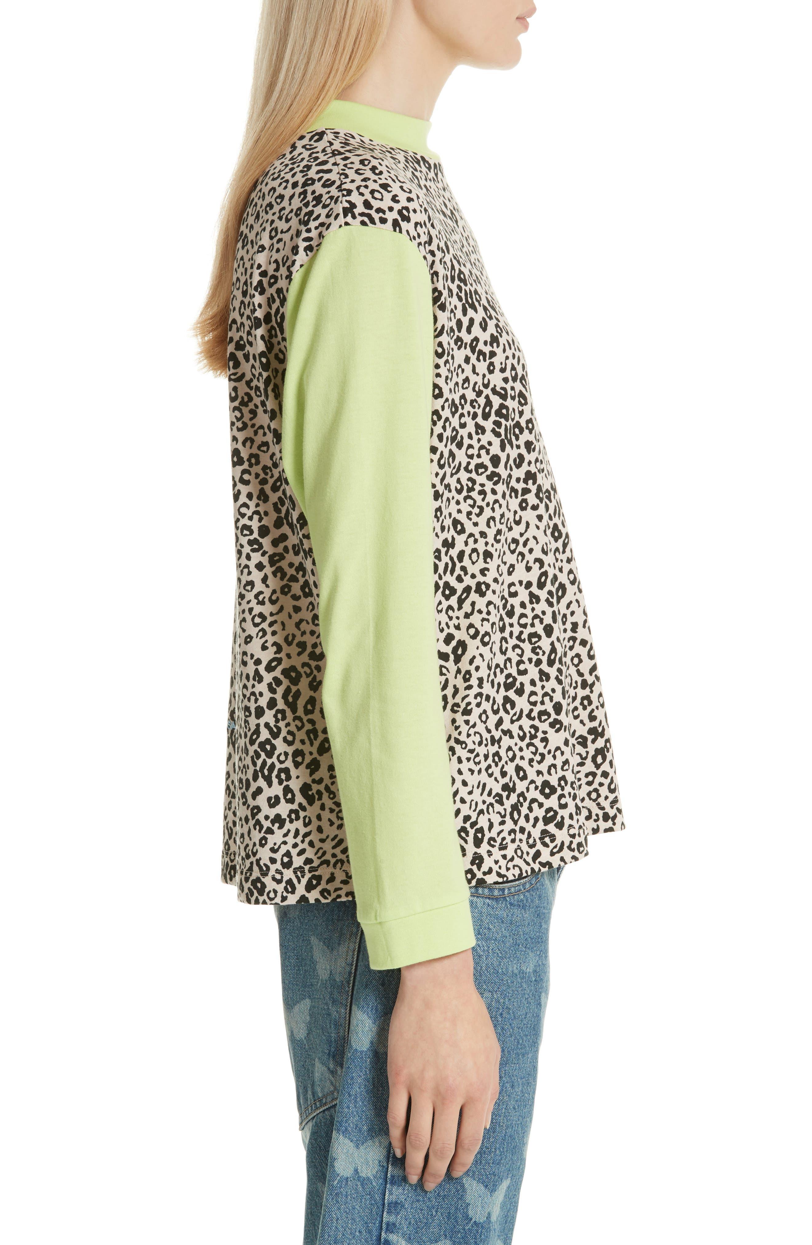 Lewis Leopard & Neon Sweater,                             Alternate thumbnail 3, color,                             SNOW LEOPARD