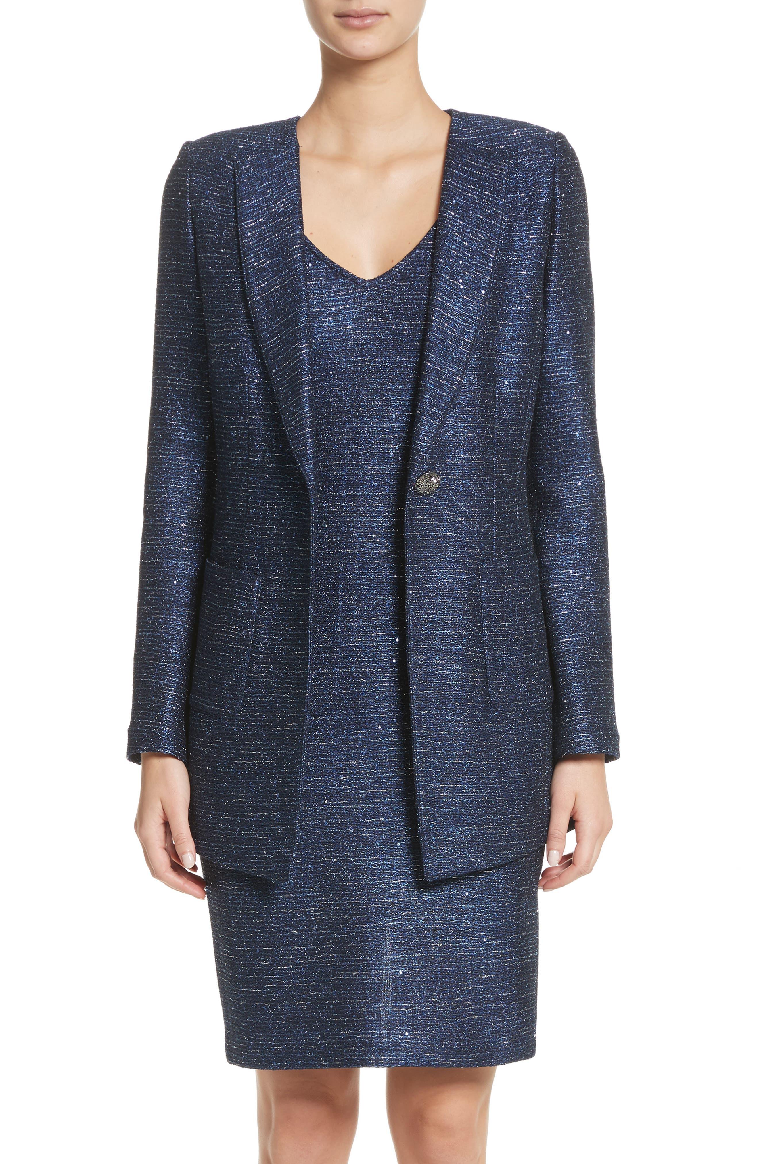 Sparkle Knit Blazer,                         Main,                         color, 410