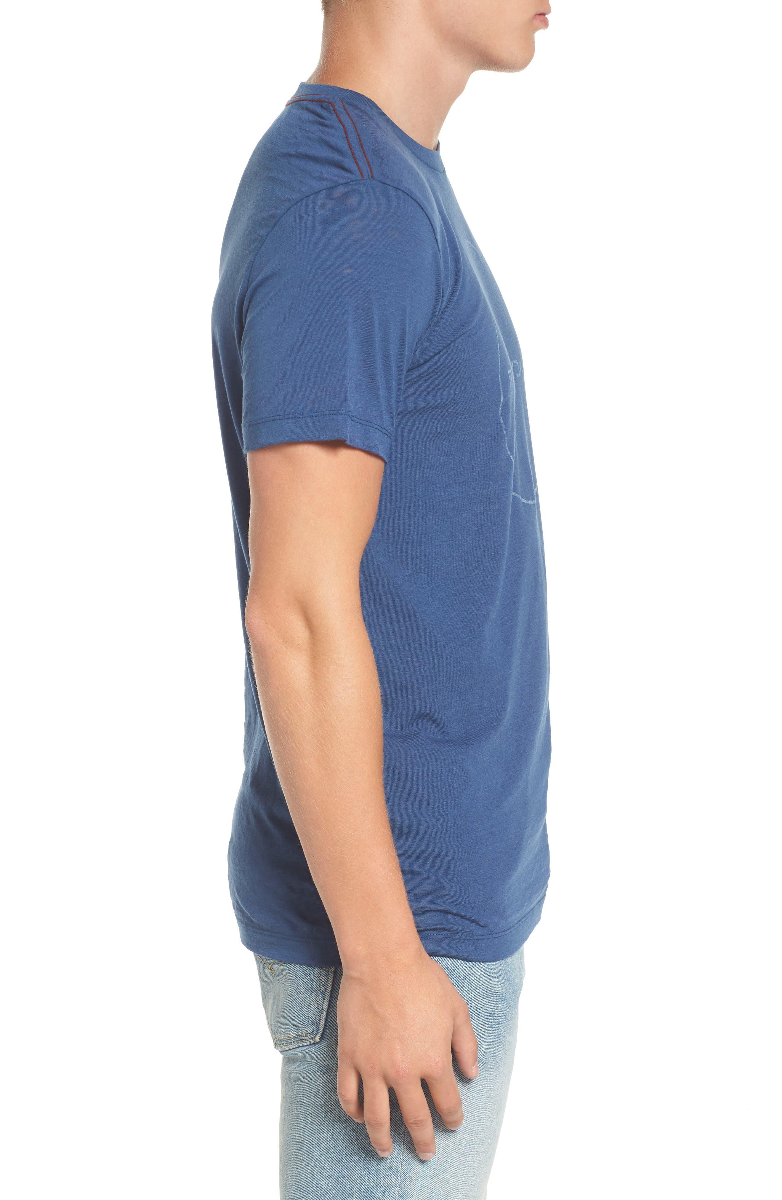 Flipped Perimeter Burnout T-Shirt,                             Alternate thumbnail 9, color,