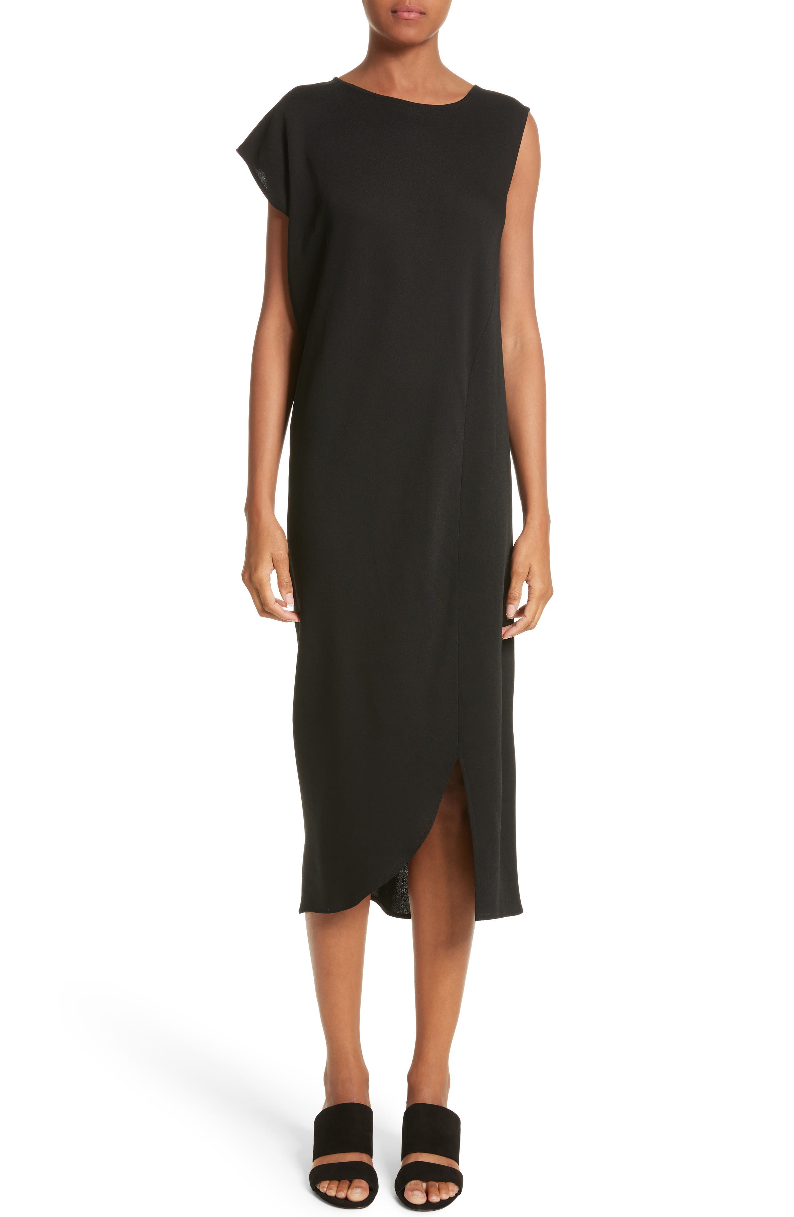 Tula Eco Drape Dress,                             Main thumbnail 1, color,                             001