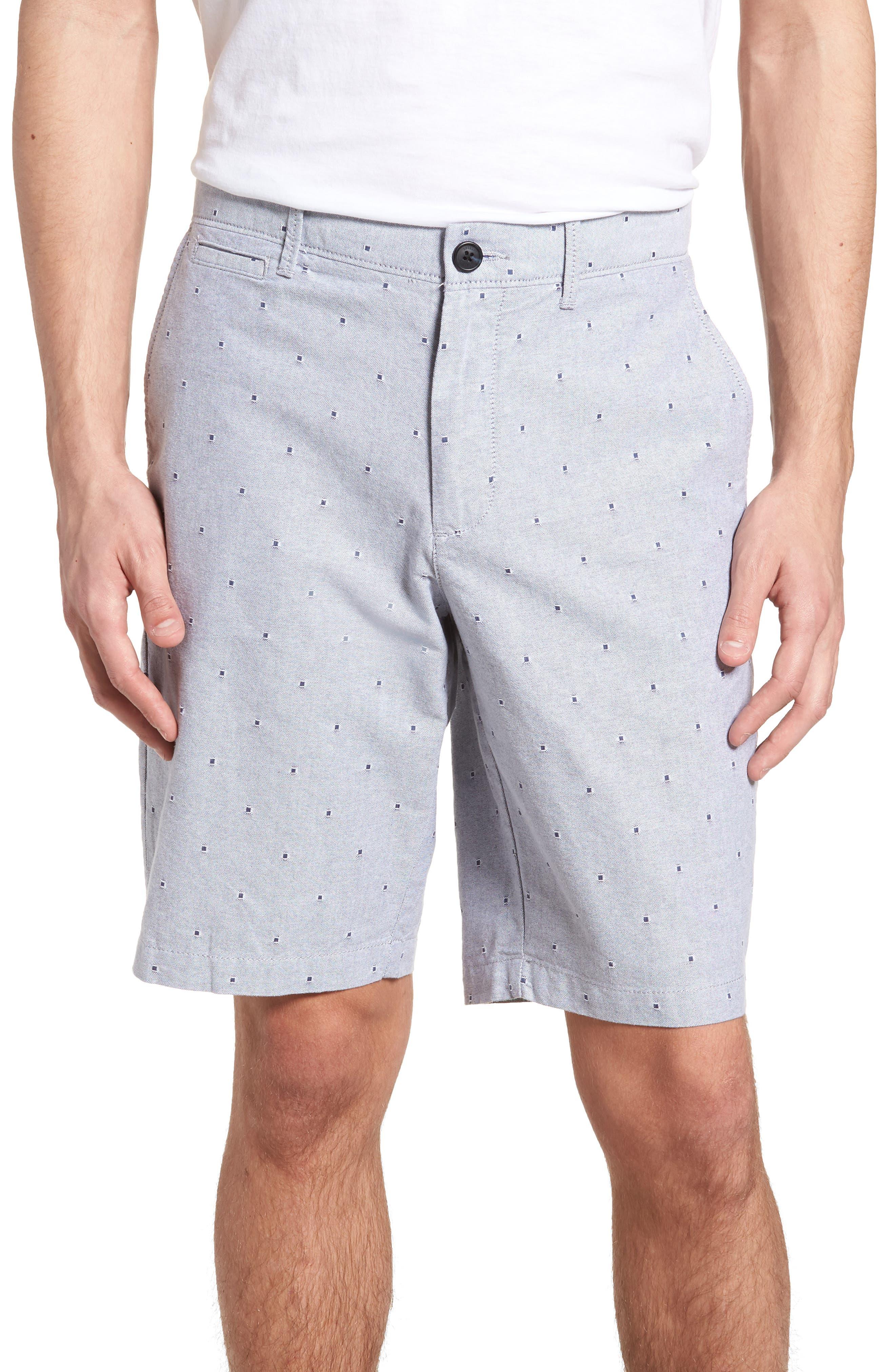 Dobby Dot Slim Fit Oxford Shorts,                         Main,                         color, 425