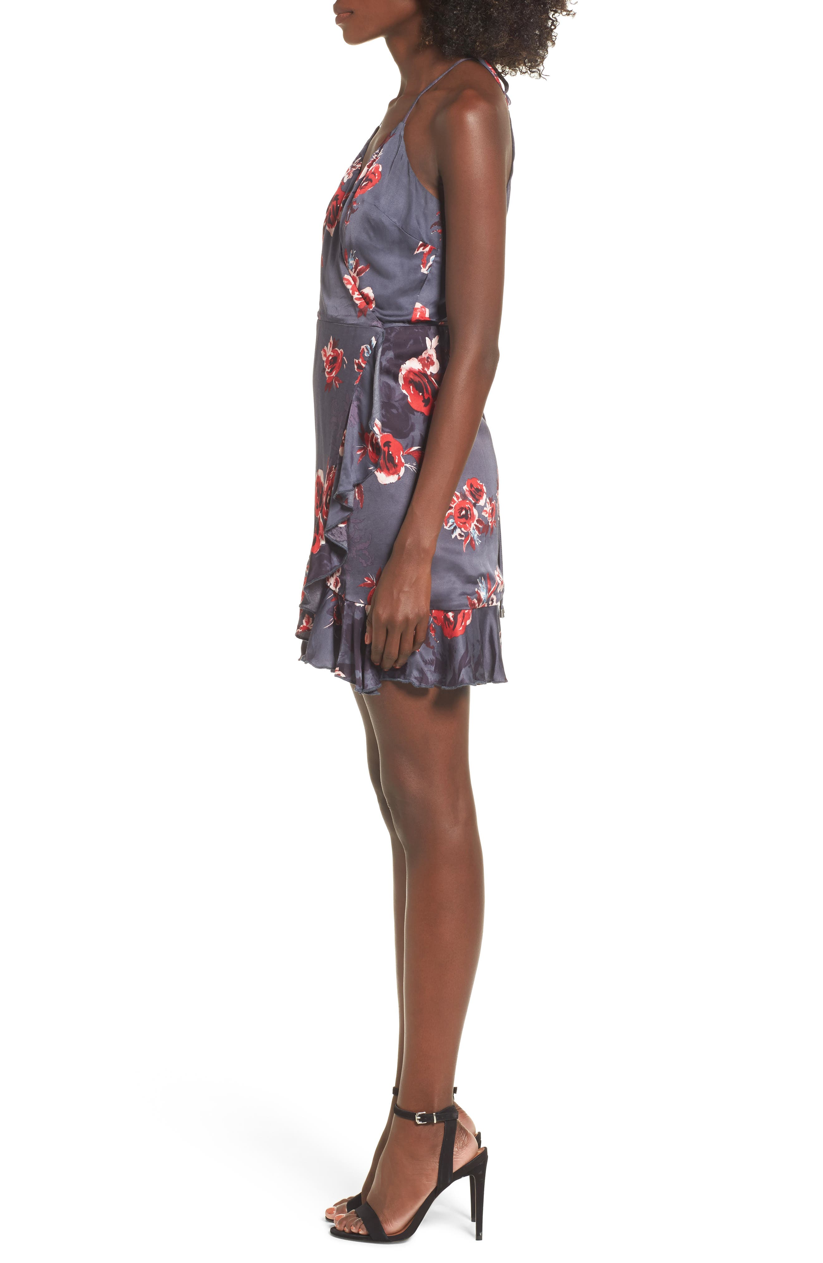 Gigi Wrap Dress,                             Alternate thumbnail 3, color,