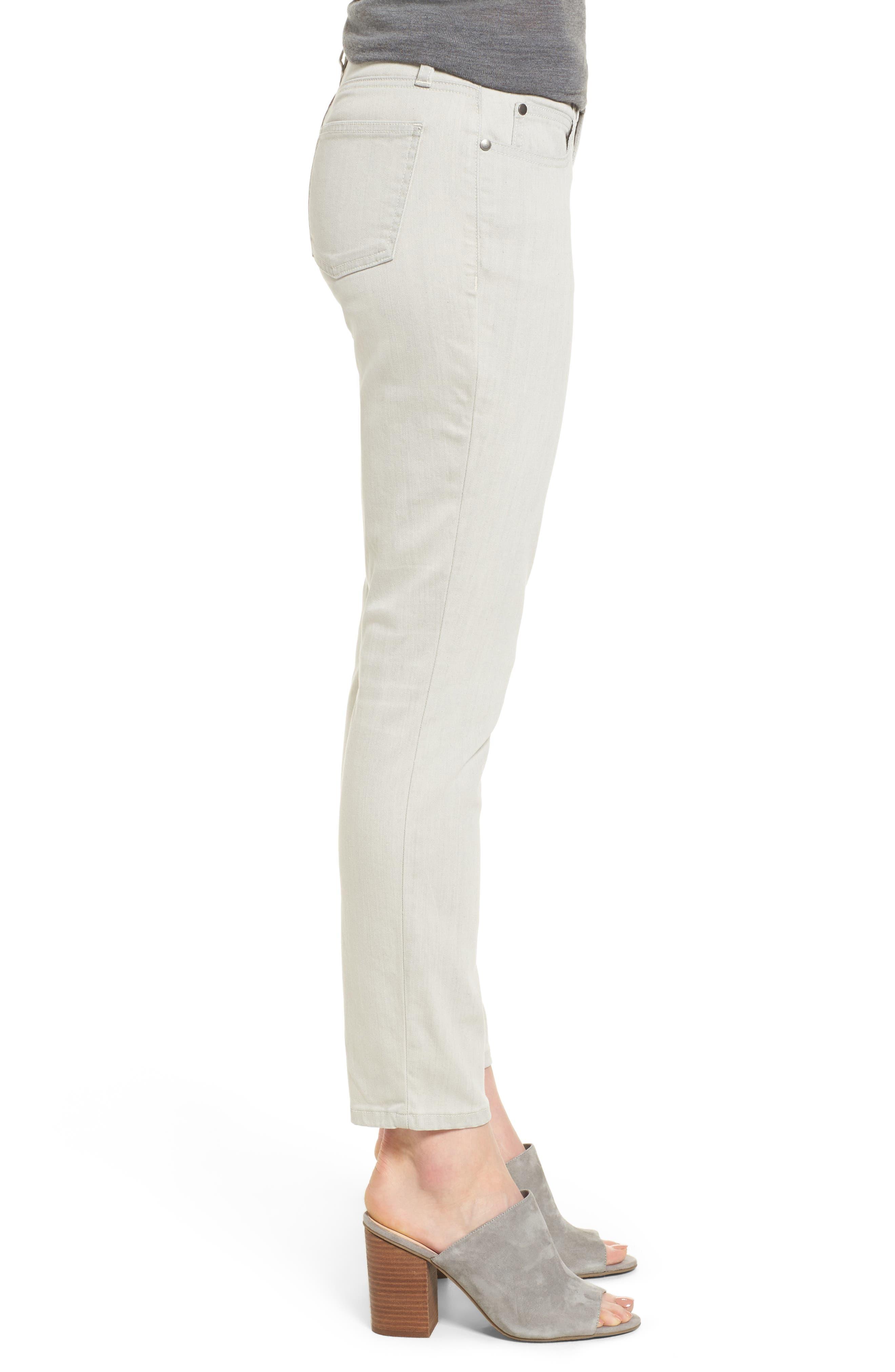 Slim Stretch Ankle Jeans,                             Alternate thumbnail 3, color,                             CEMENT