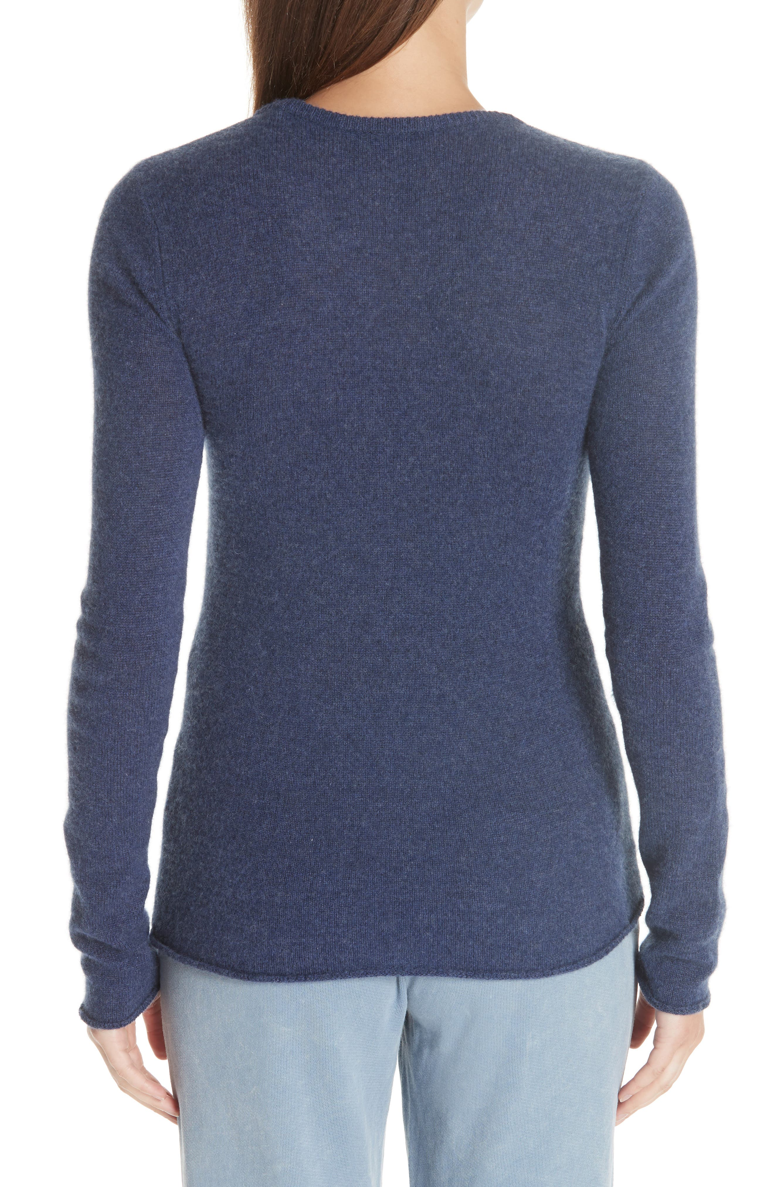 Cashmere Sweater,                             Alternate thumbnail 2, color,                             HEATHER NAVY