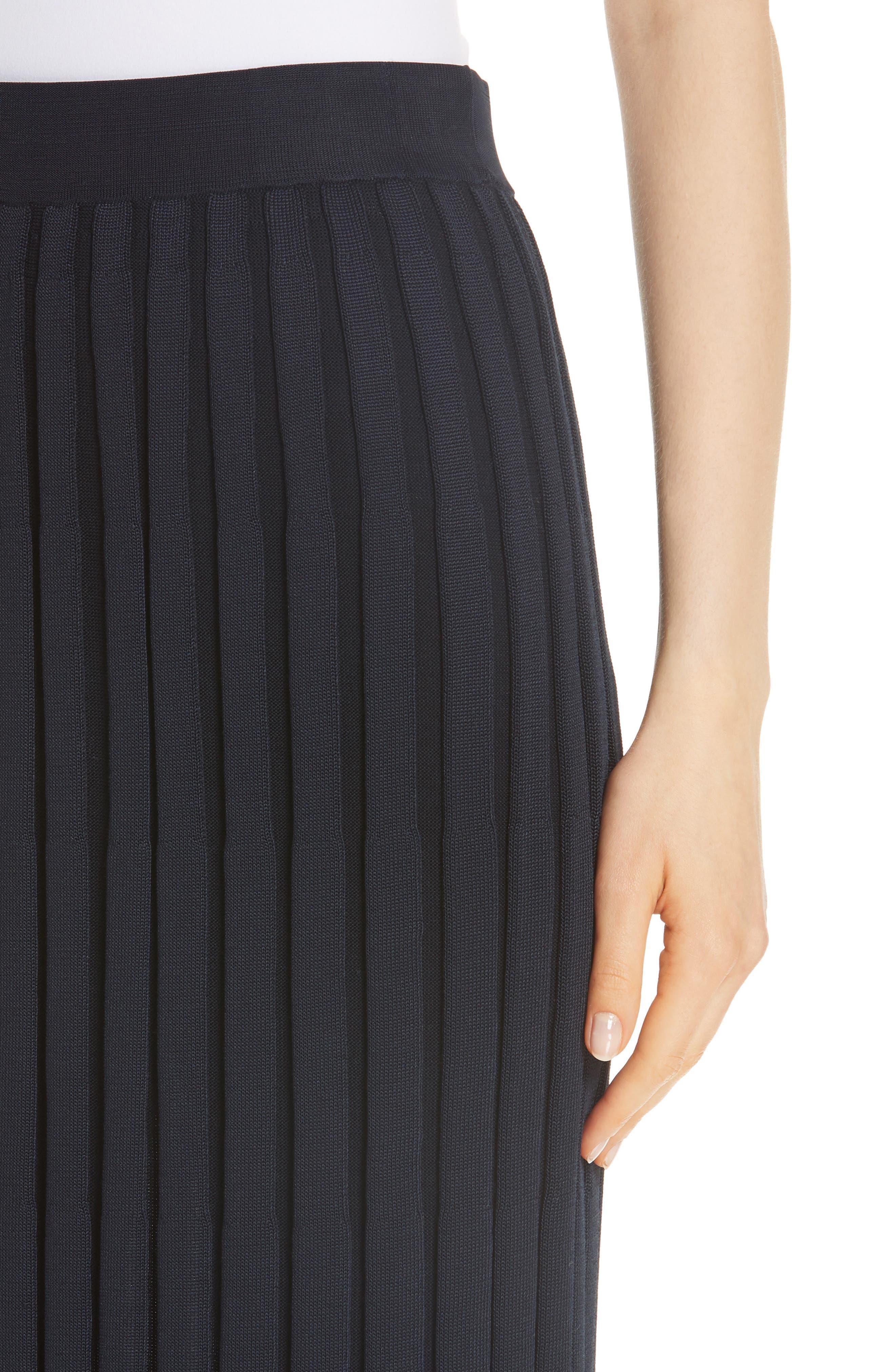 Metropolitan Shine Plaited Rib Skirt,                             Alternate thumbnail 4, color,                             400