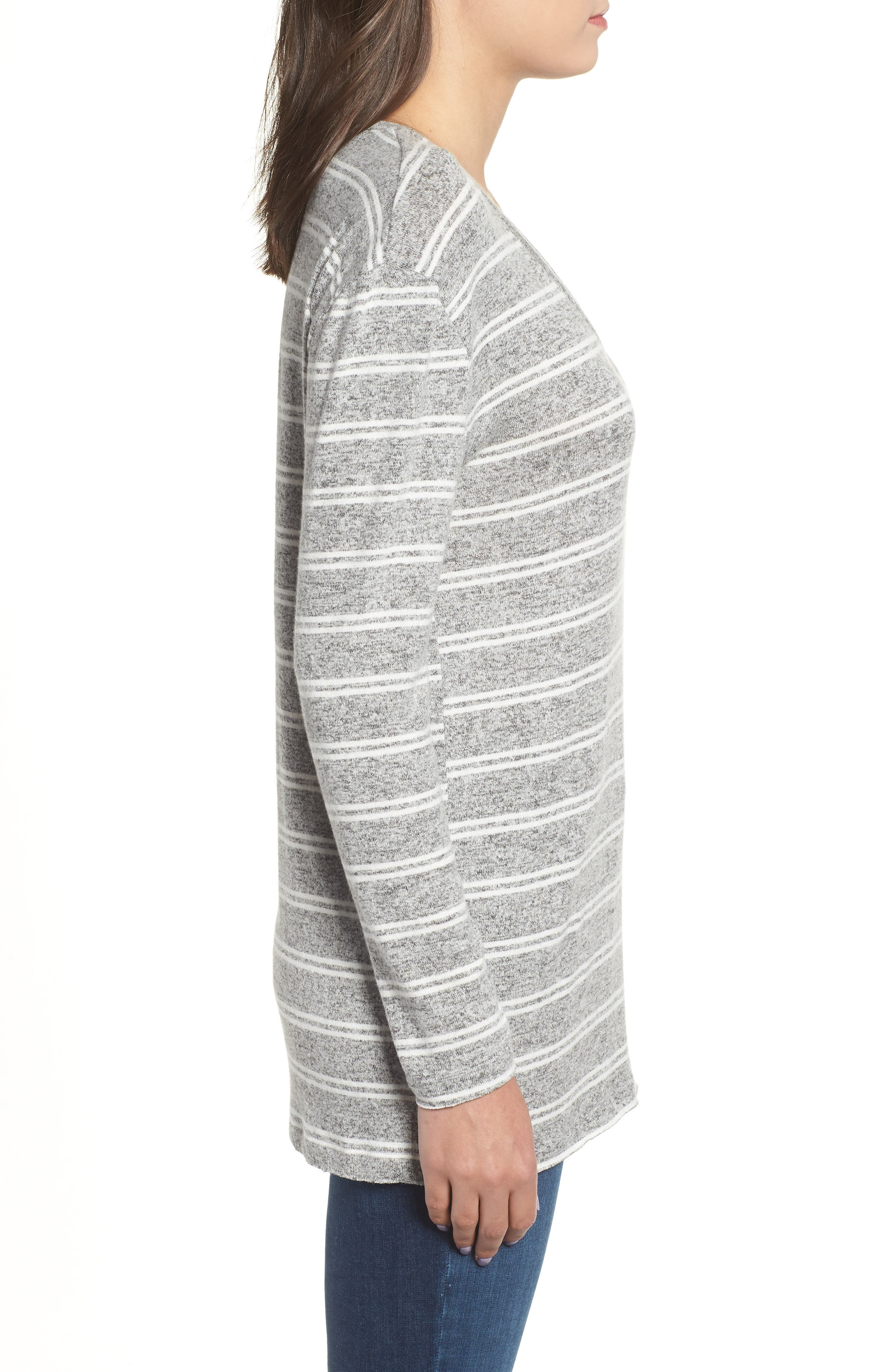BP., Cozy V-Neck Sweater, Alternate thumbnail 3, color, 050