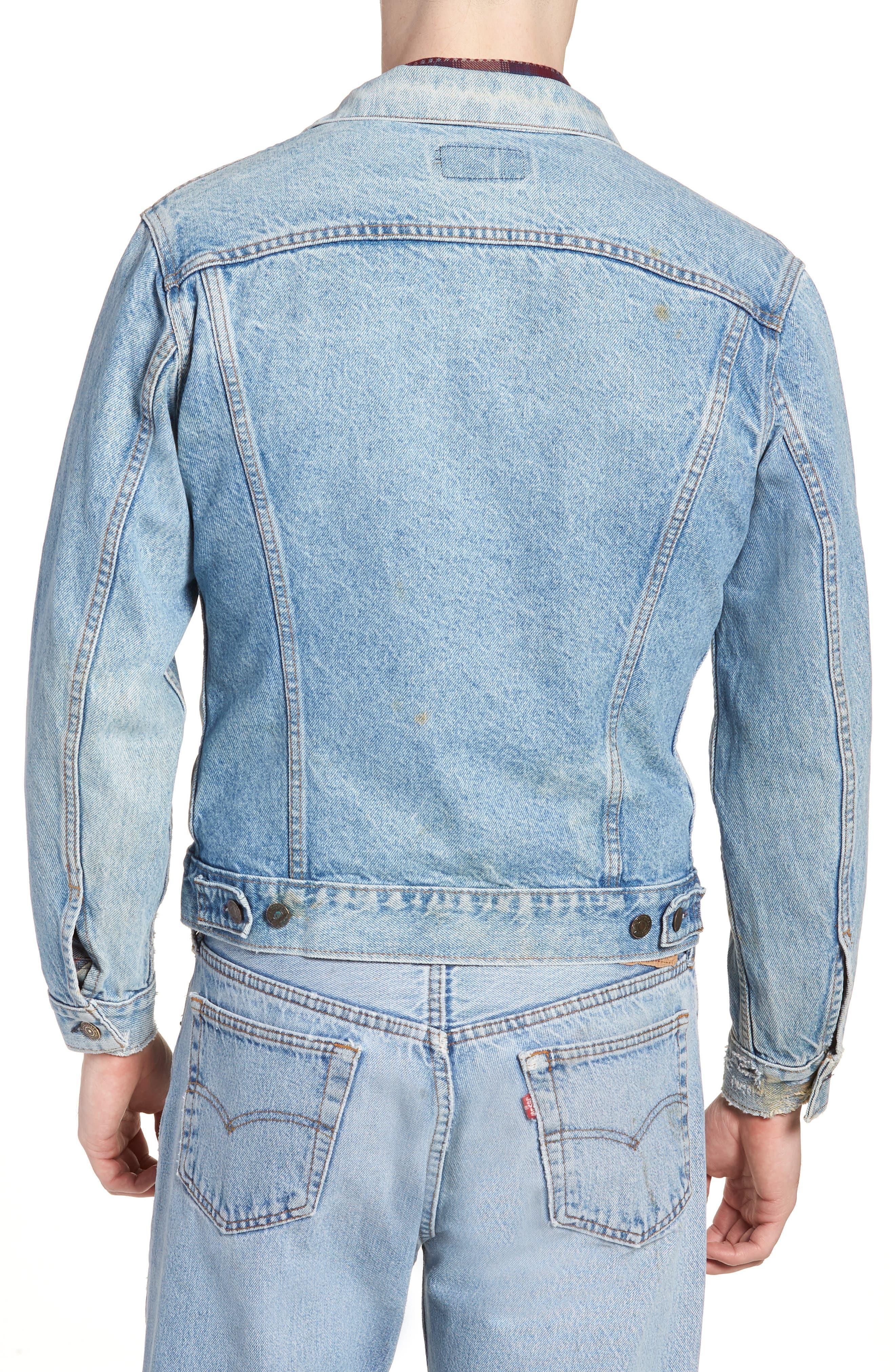 Authorized Vintage Trucker Jacket,                             Alternate thumbnail 2, color,                             AV BLUE