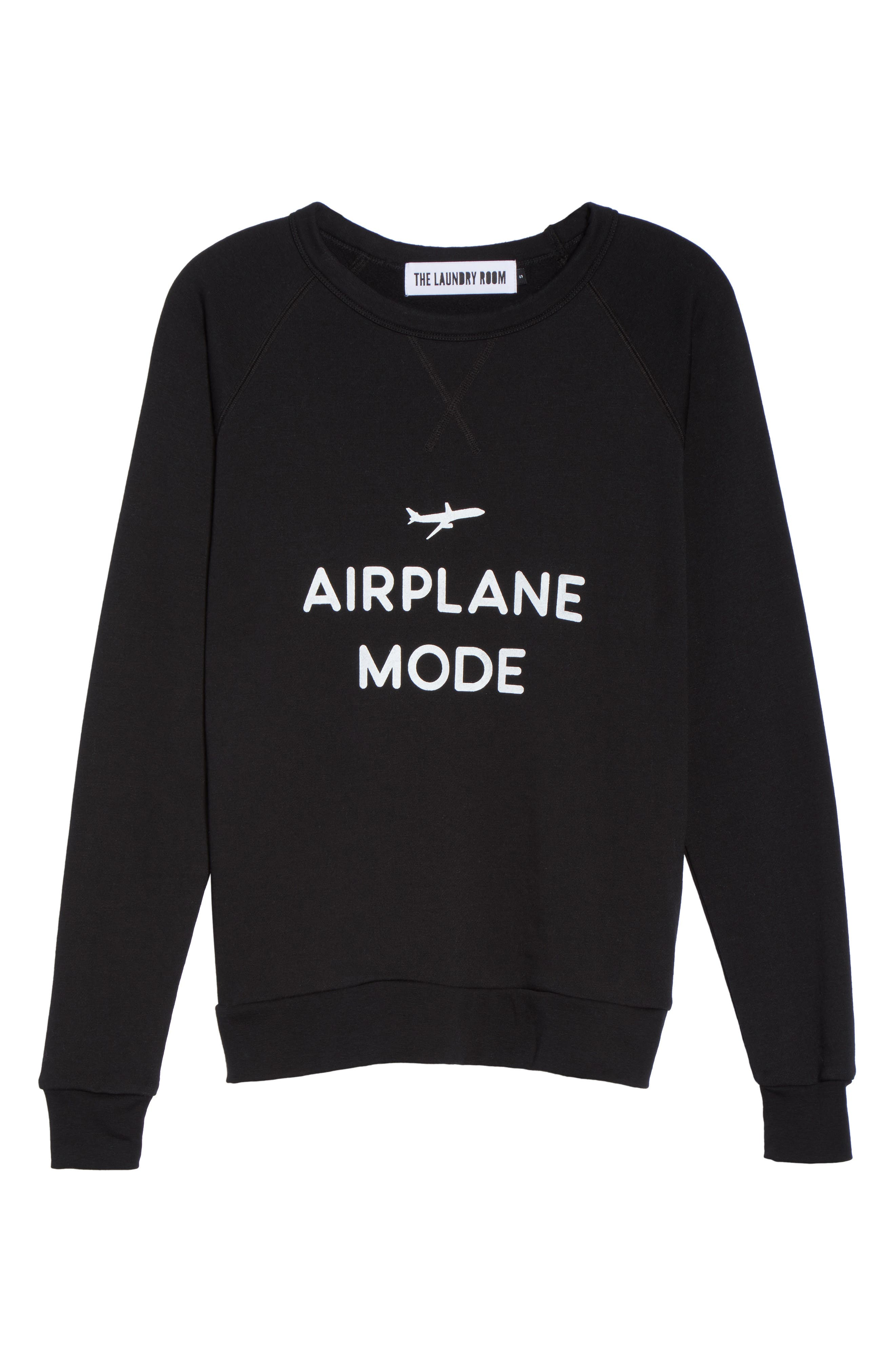 THE LAUNDRY ROOM,                             Airplane Mode Cozy Lounge Sweatshirt,                             Alternate thumbnail 6, color,                             001