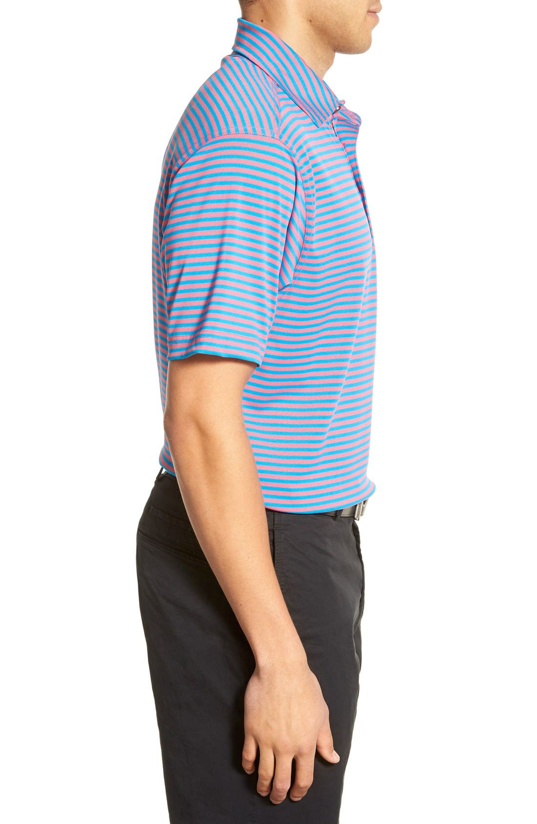 XH2O Feed Stripe Stretch Golf Polo,                             Alternate thumbnail 51, color,
