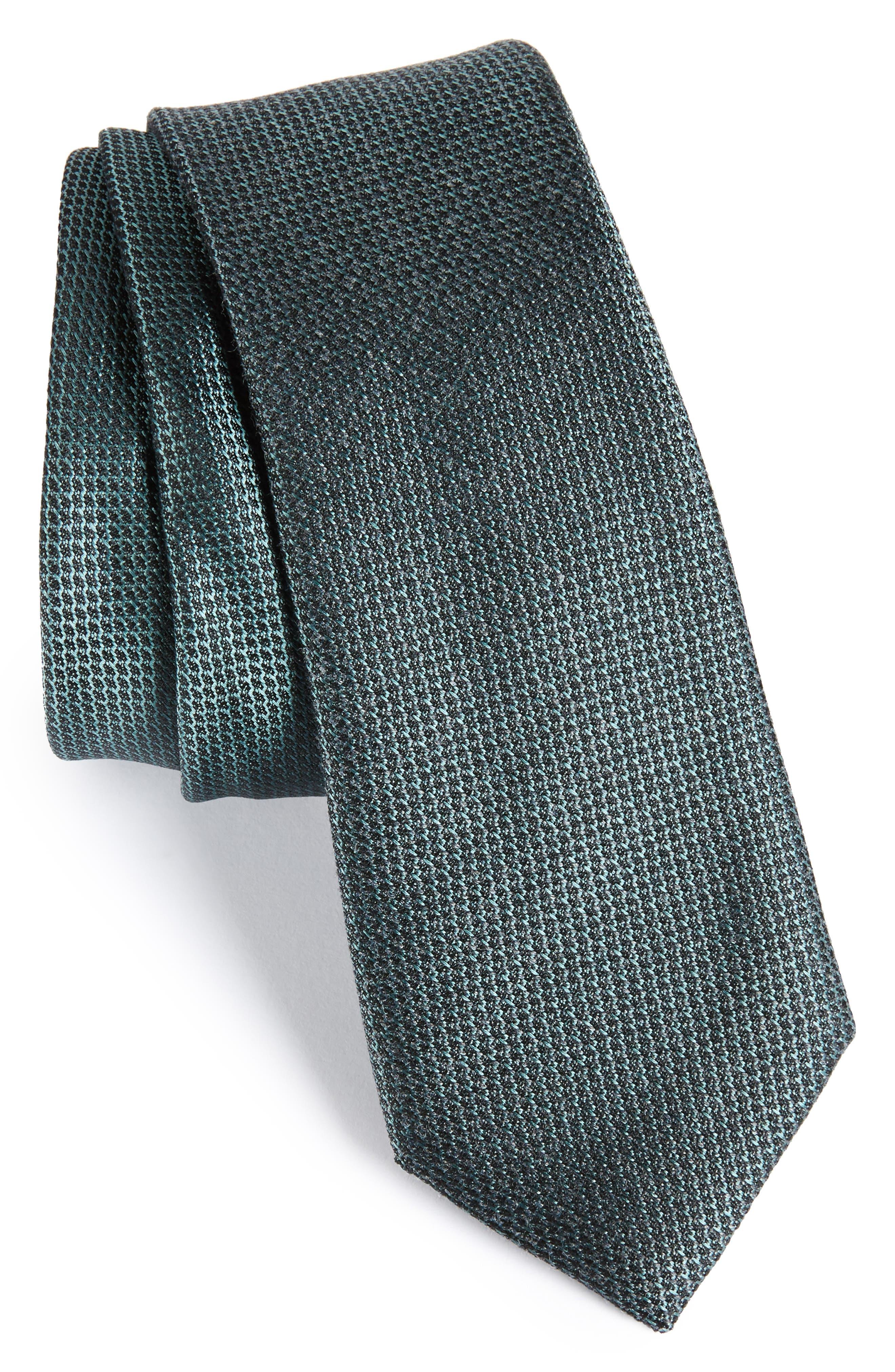 Kenton Textured Silk Blend Skinny Tie,                             Main thumbnail 2, color,