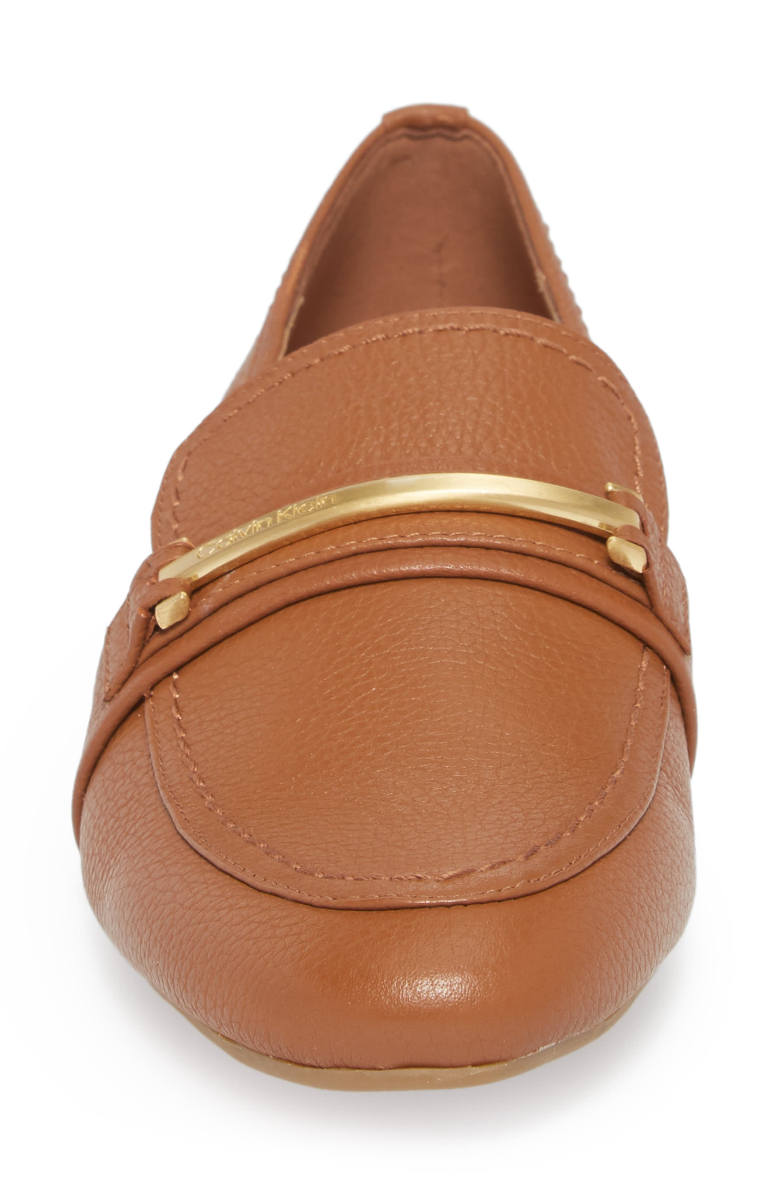 Orianna Loafer,                             Alternate thumbnail 4, color,                             COGNAC LEATHER