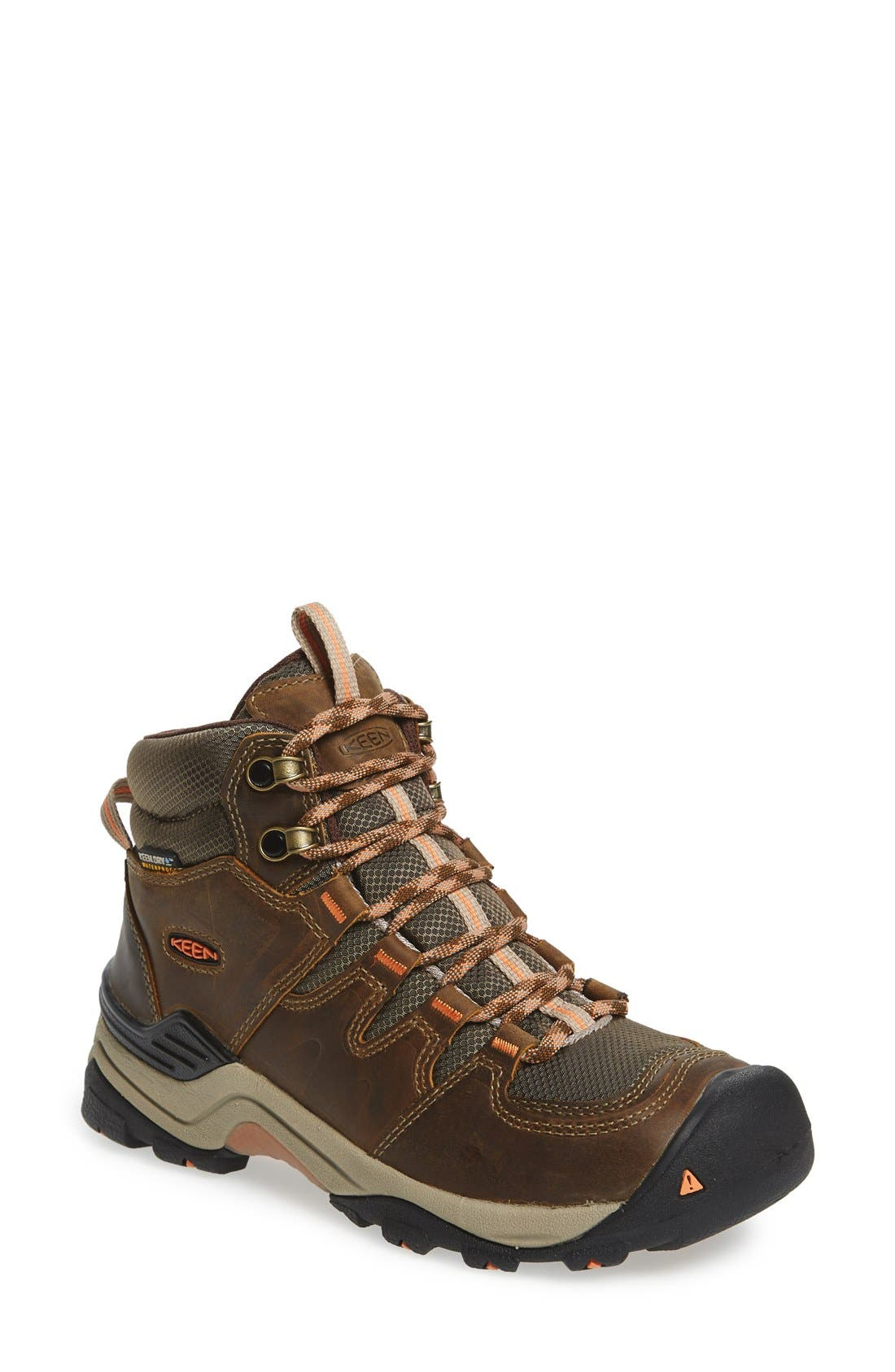 Gypsum II Mid Waterproof Hiking Boot,                             Main thumbnail 1, color,                             CORNSTOCK/ GOLD CORAL