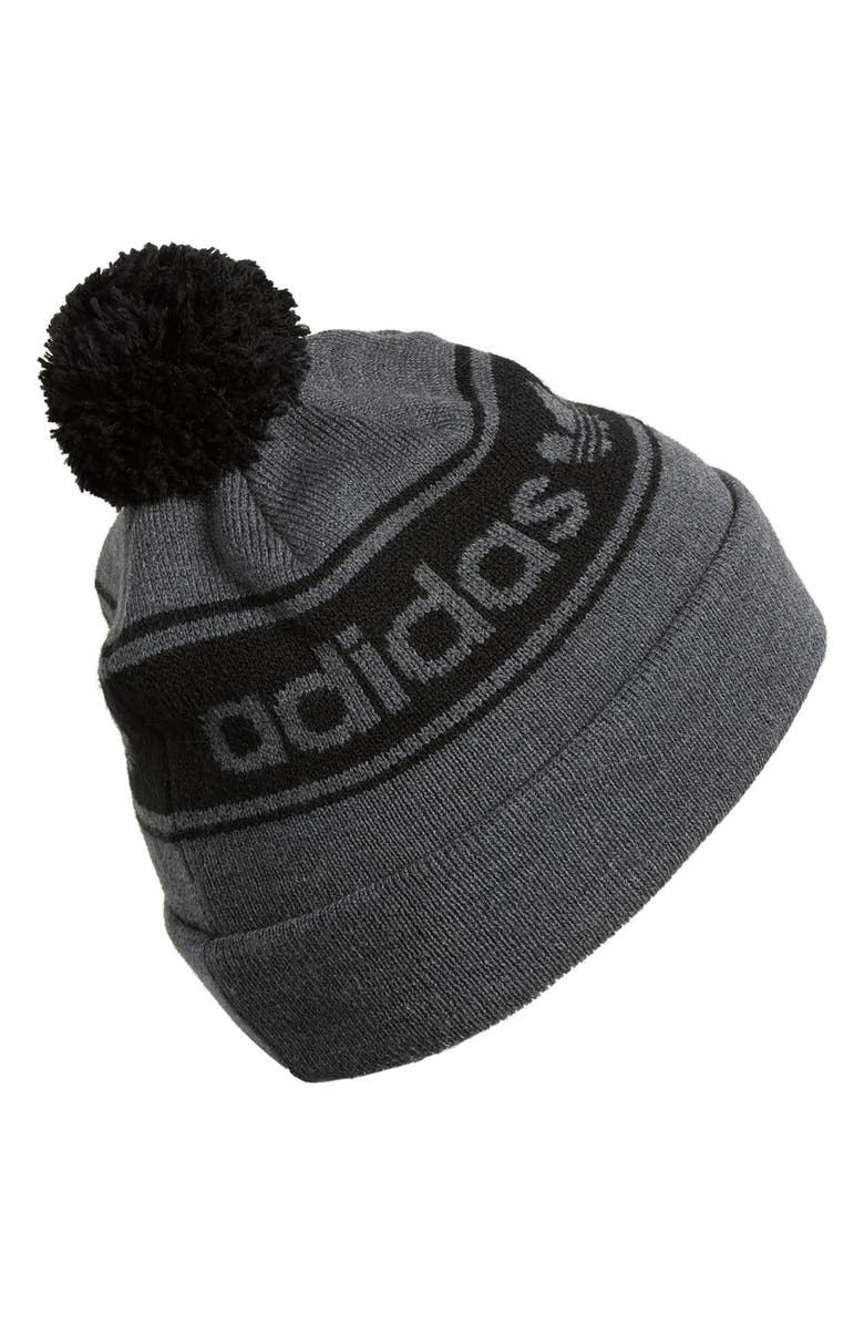 ADIDAS ORIGINALS POM BEANIE - GREY