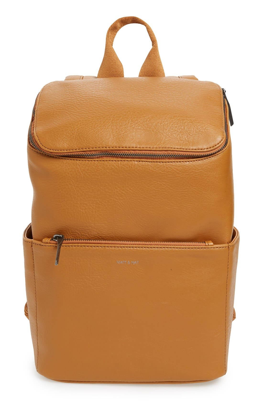 'Brave' Faux Leather Backpack,                             Main thumbnail 18, color,