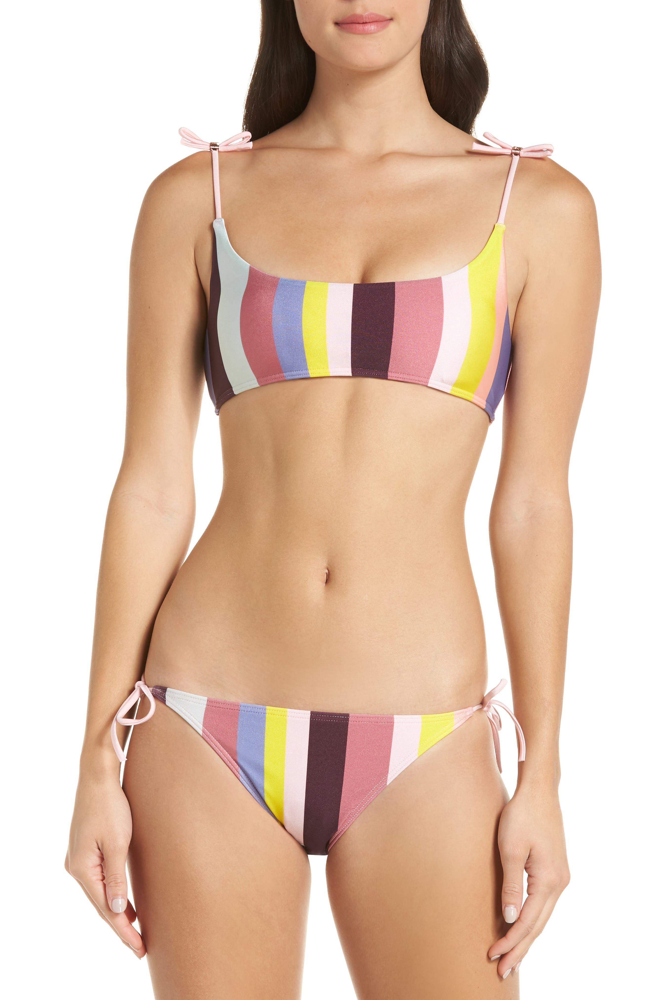 Penora Rio Stripe Bikini Top,                             Alternate thumbnail 7, color,                             LIGHT PINK