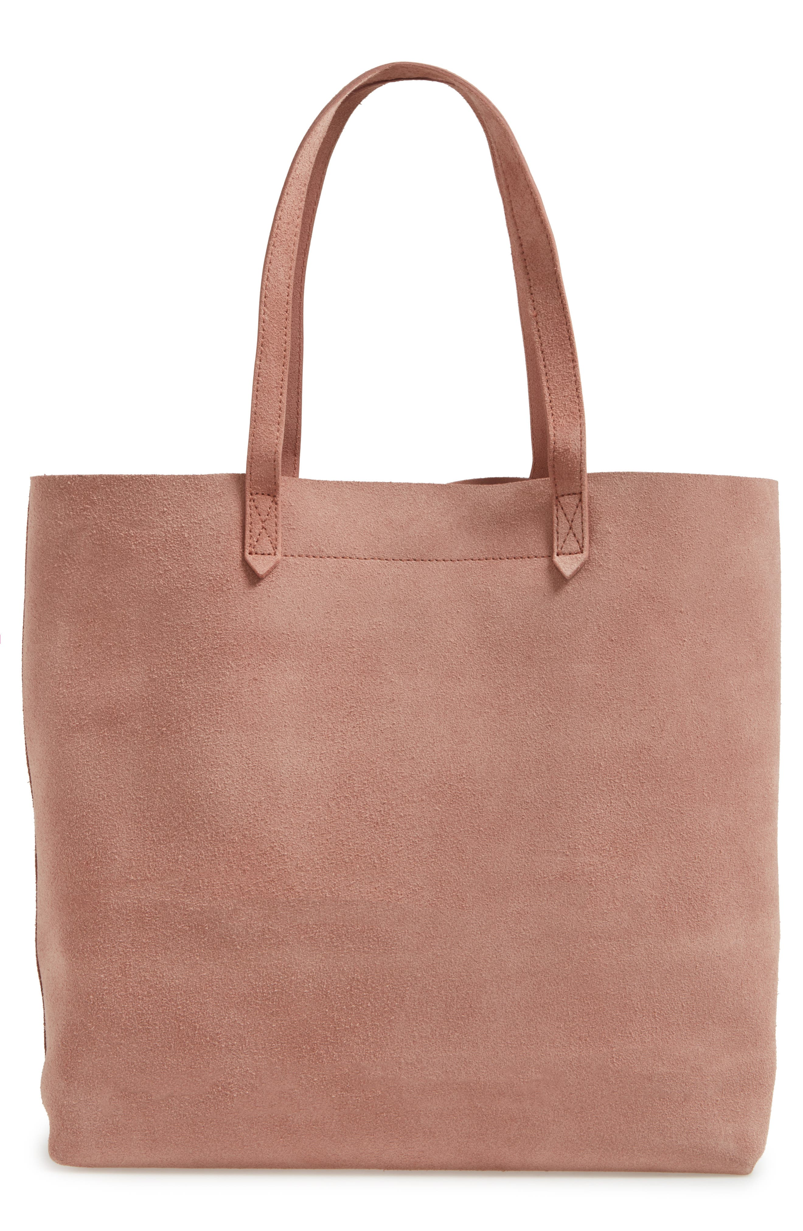 Suede Transport Tote, Main, color, 250