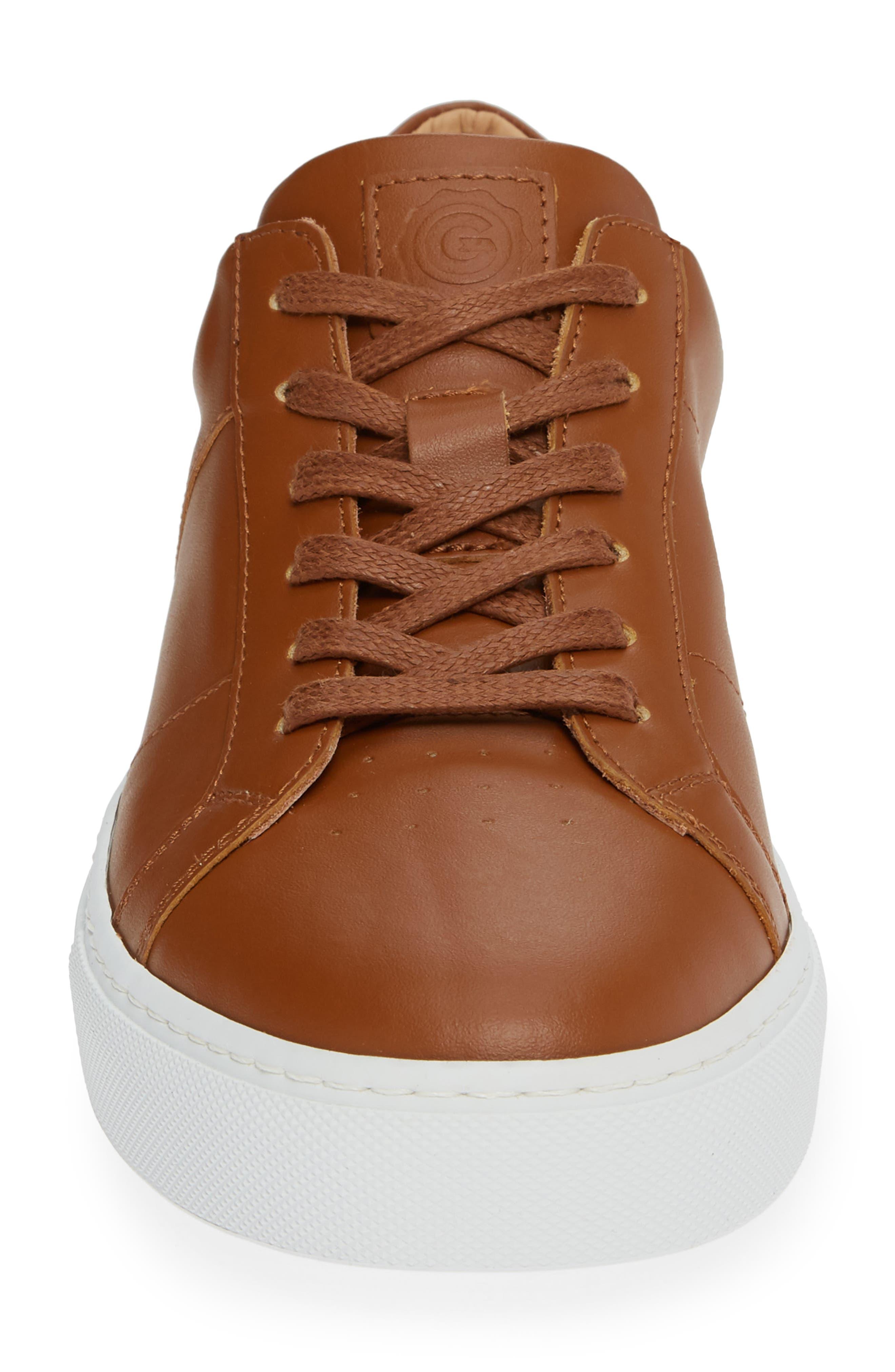 Royale Sneaker,                             Alternate thumbnail 4, color,                             TAN LEATHER