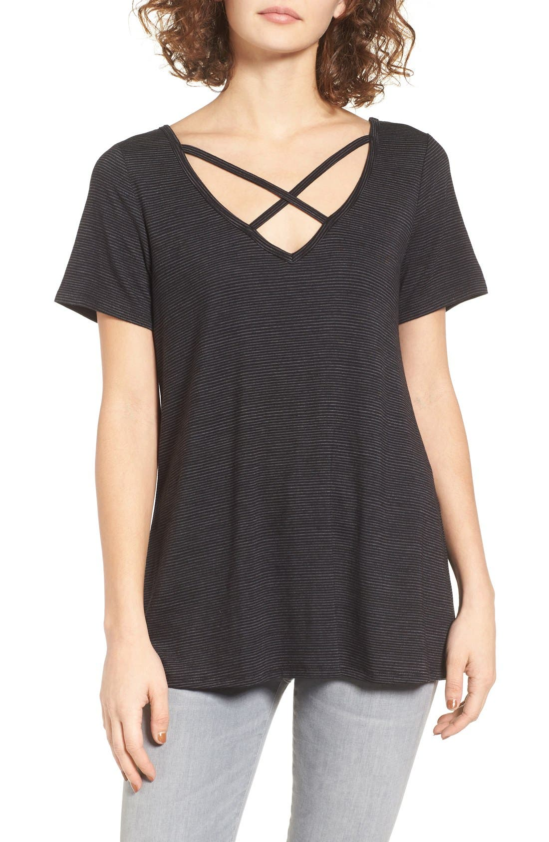 BP.,                             Strappy Tee,                             Main thumbnail 1, color,                             001