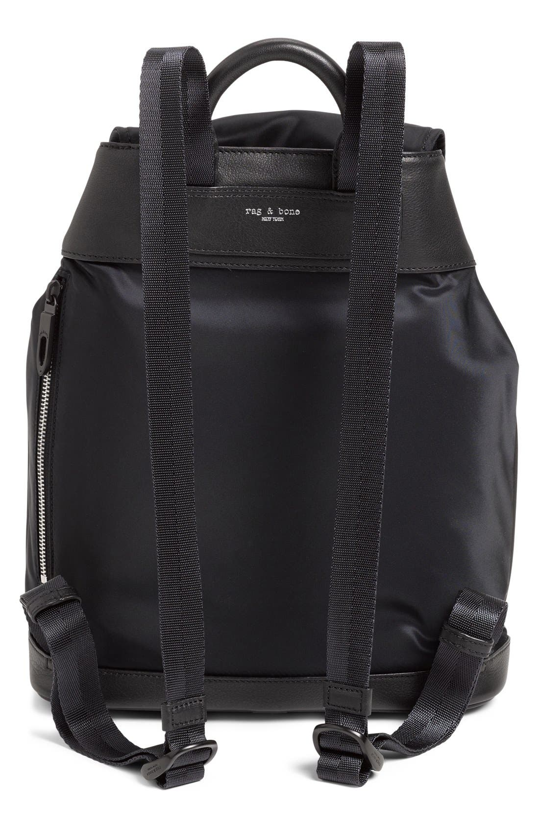 RAG & BONE,                             'Pilot' Nylon Backpack,                             Alternate thumbnail 3, color,                             002