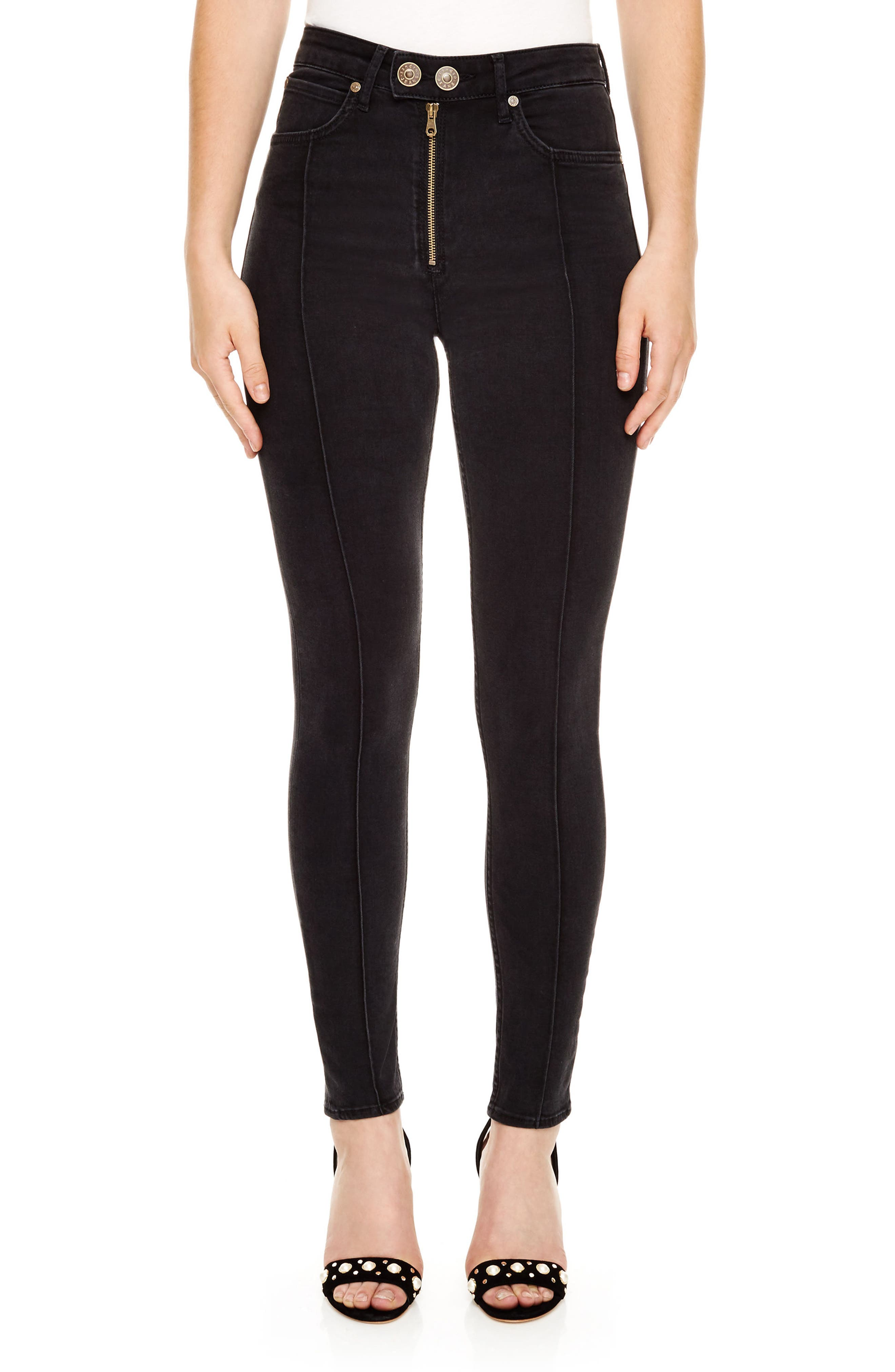 Gregor Skinny Jeans,                             Main thumbnail 1, color,                             BLACK