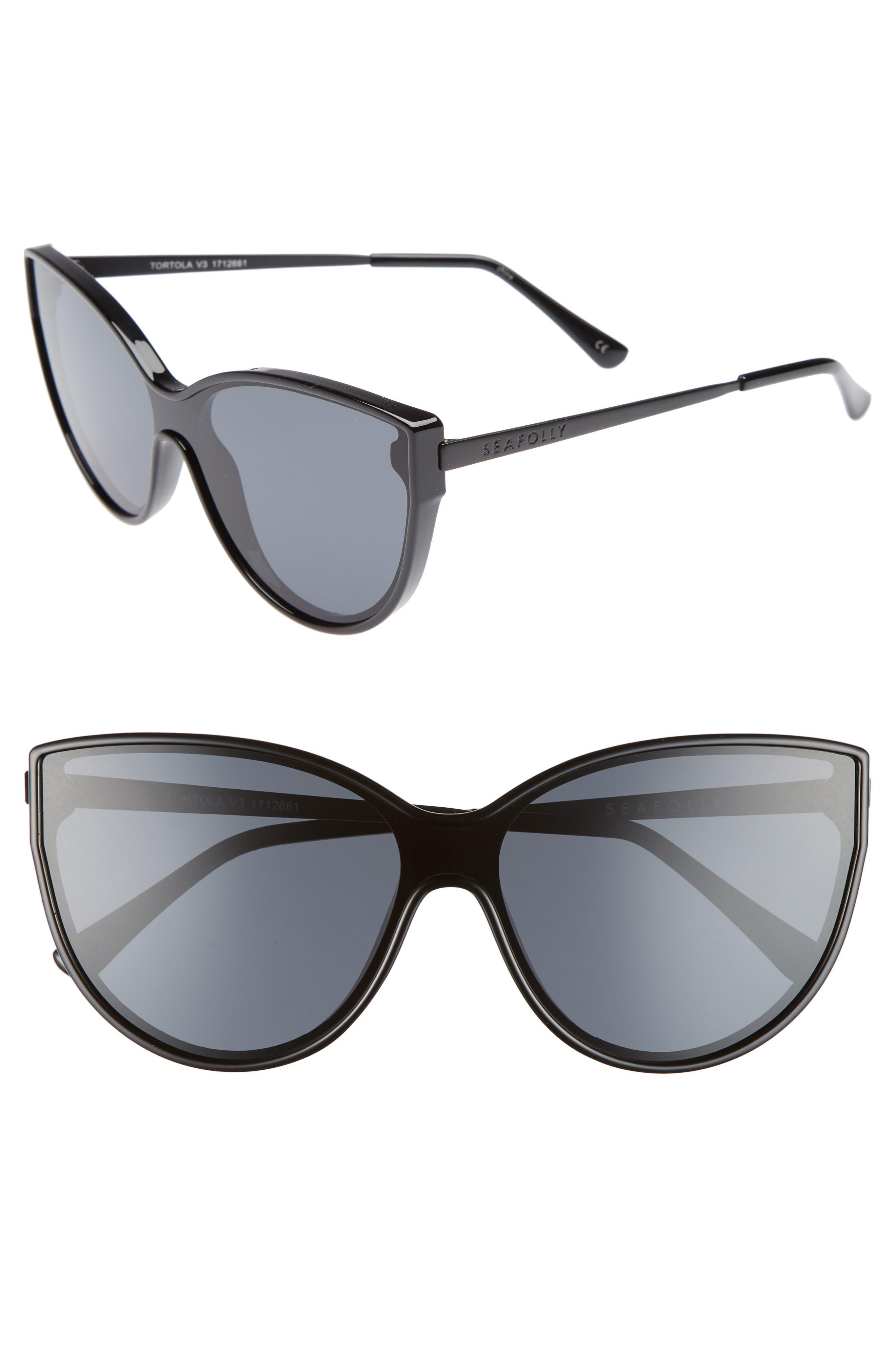 Tortola 60mm Cat Eye Sunglasses,                         Main,                         color, BLACK