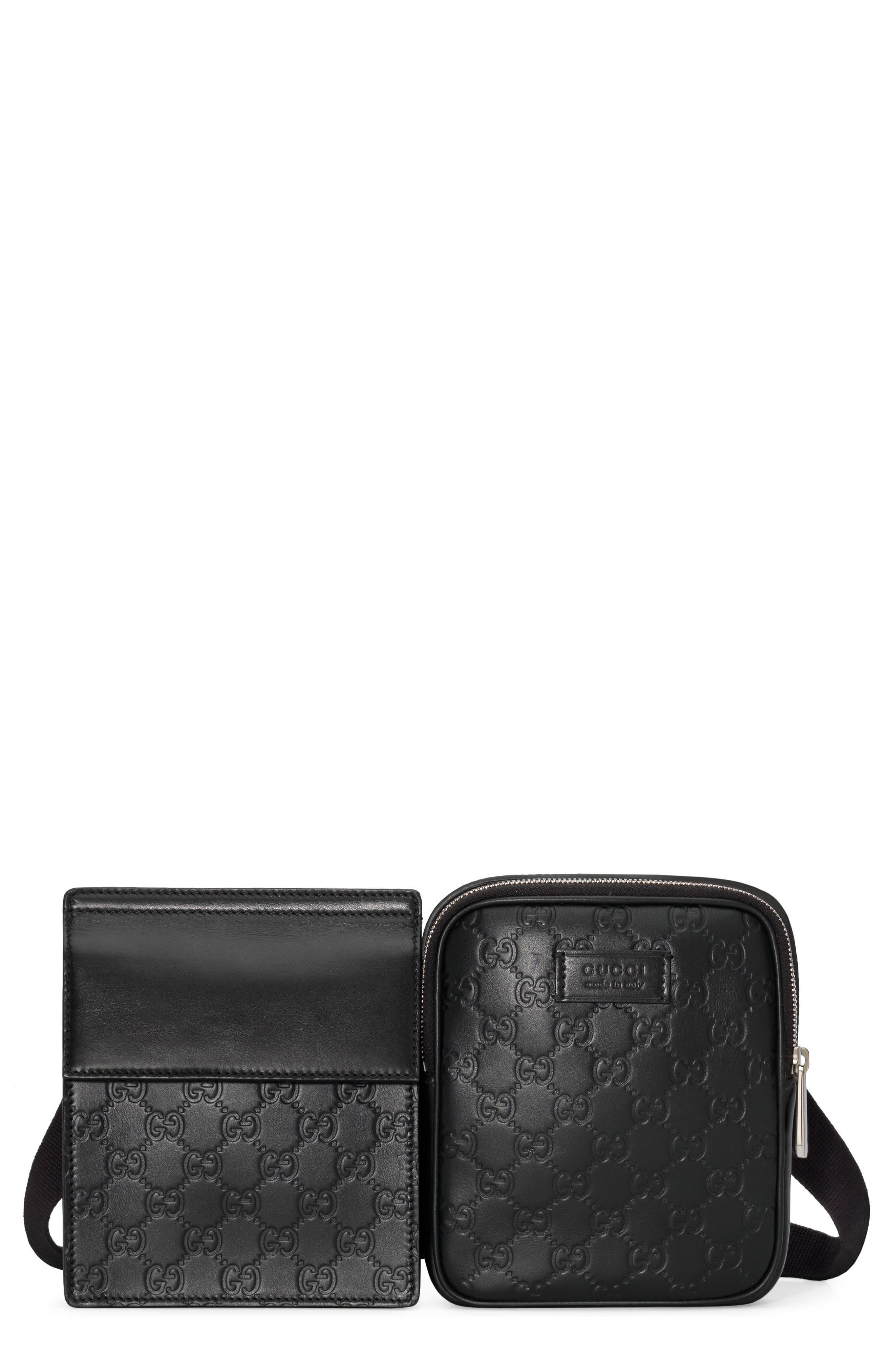 Leather Belt Bag,                         Main,                         color, 001