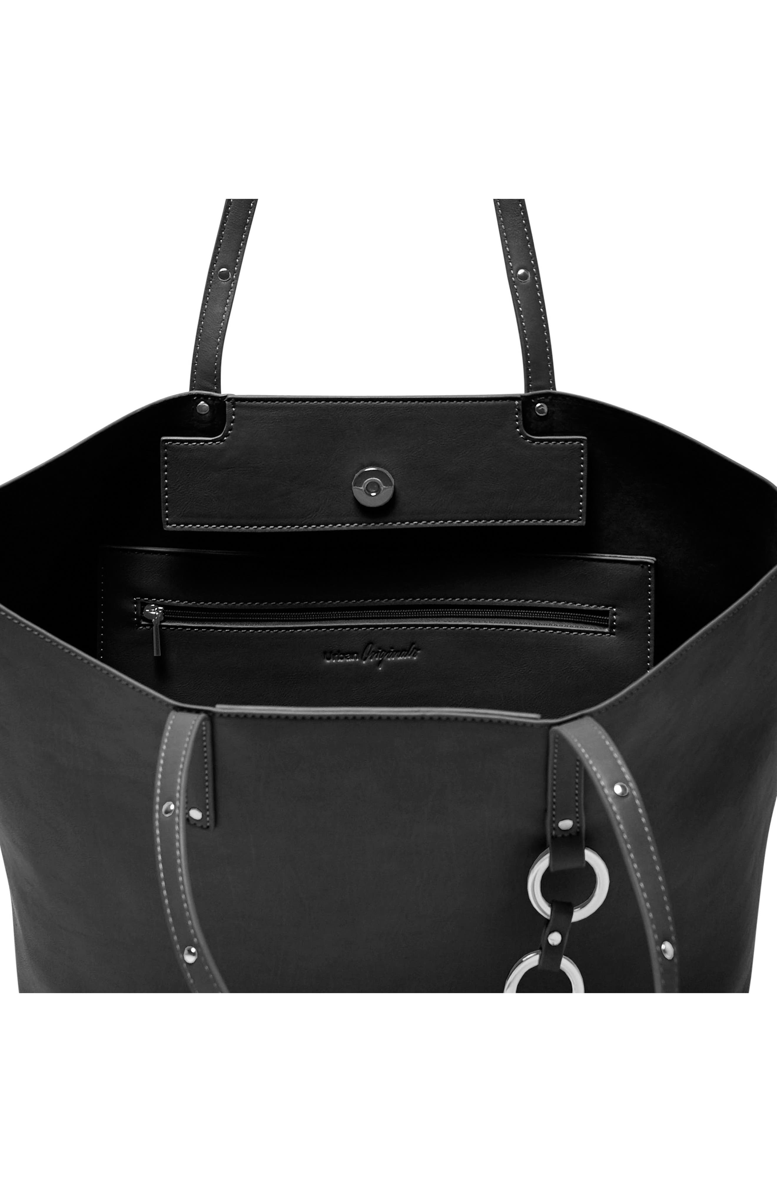 Wild Fire Vegan Leather Tote,                             Alternate thumbnail 6, color,
