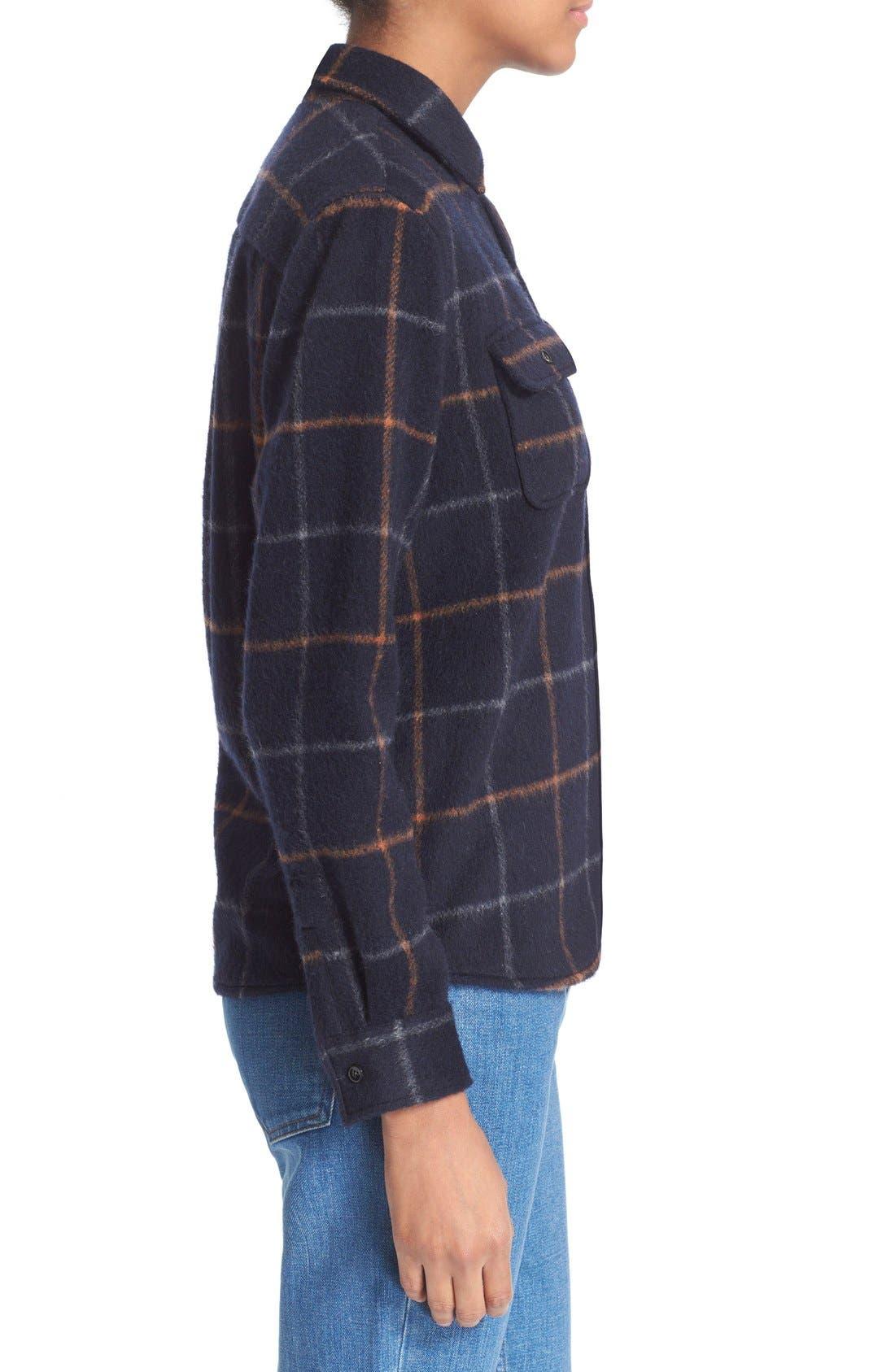 A.P.C.,                             'Surchemise' Plaid Boyfriend Shirt,                             Alternate thumbnail 4, color,                             410