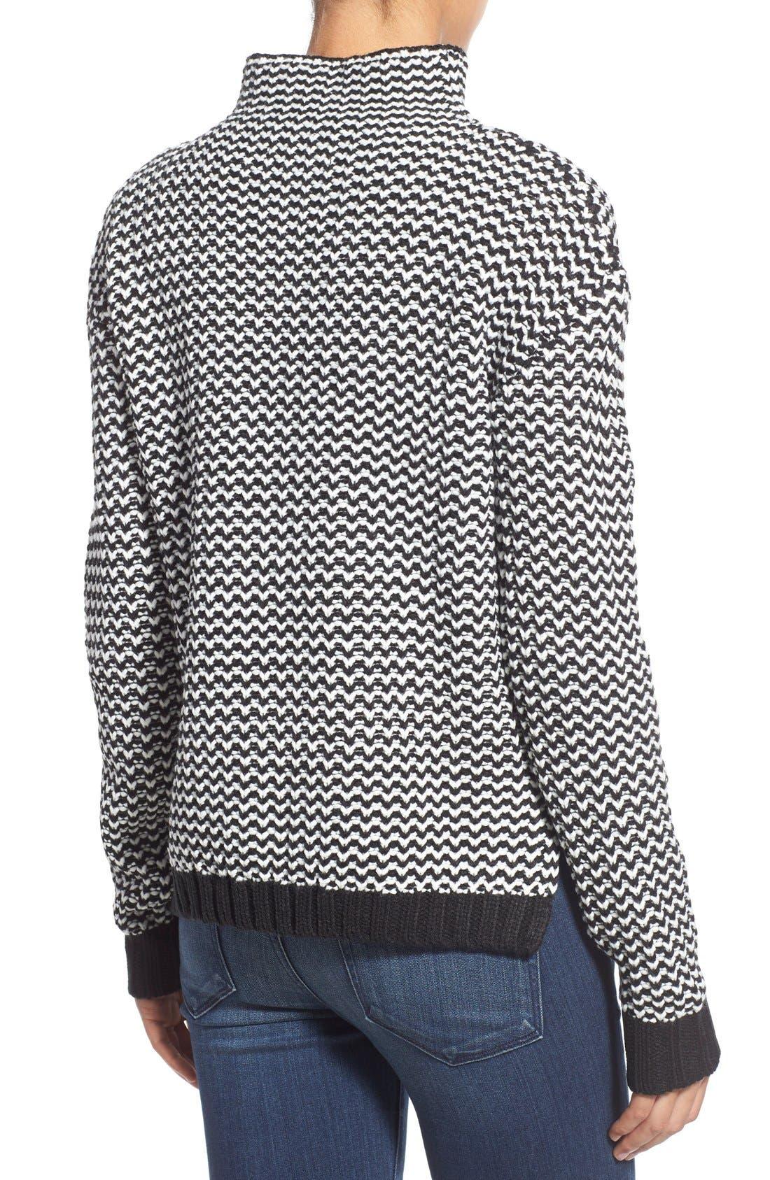 'Roller' Mock Neck Sweater,                             Alternate thumbnail 3, color,                             002
